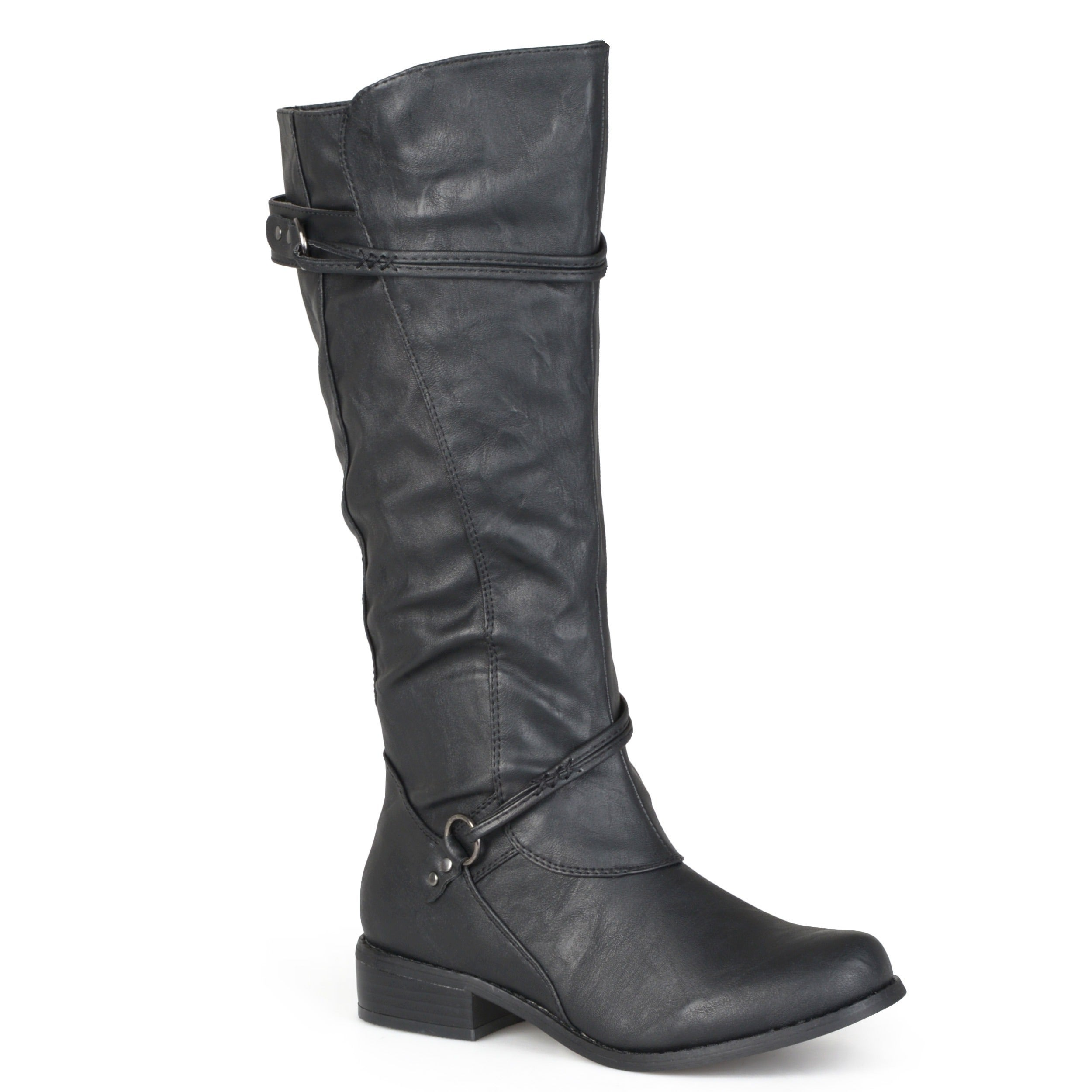 5fb382ab7d Shop Journee Collection Women's 'Harley' Regular and Wide-calf Ankle-strap  Buckle Knee-high Riding Boot - Free Shipping Today - Overstock - 5162850