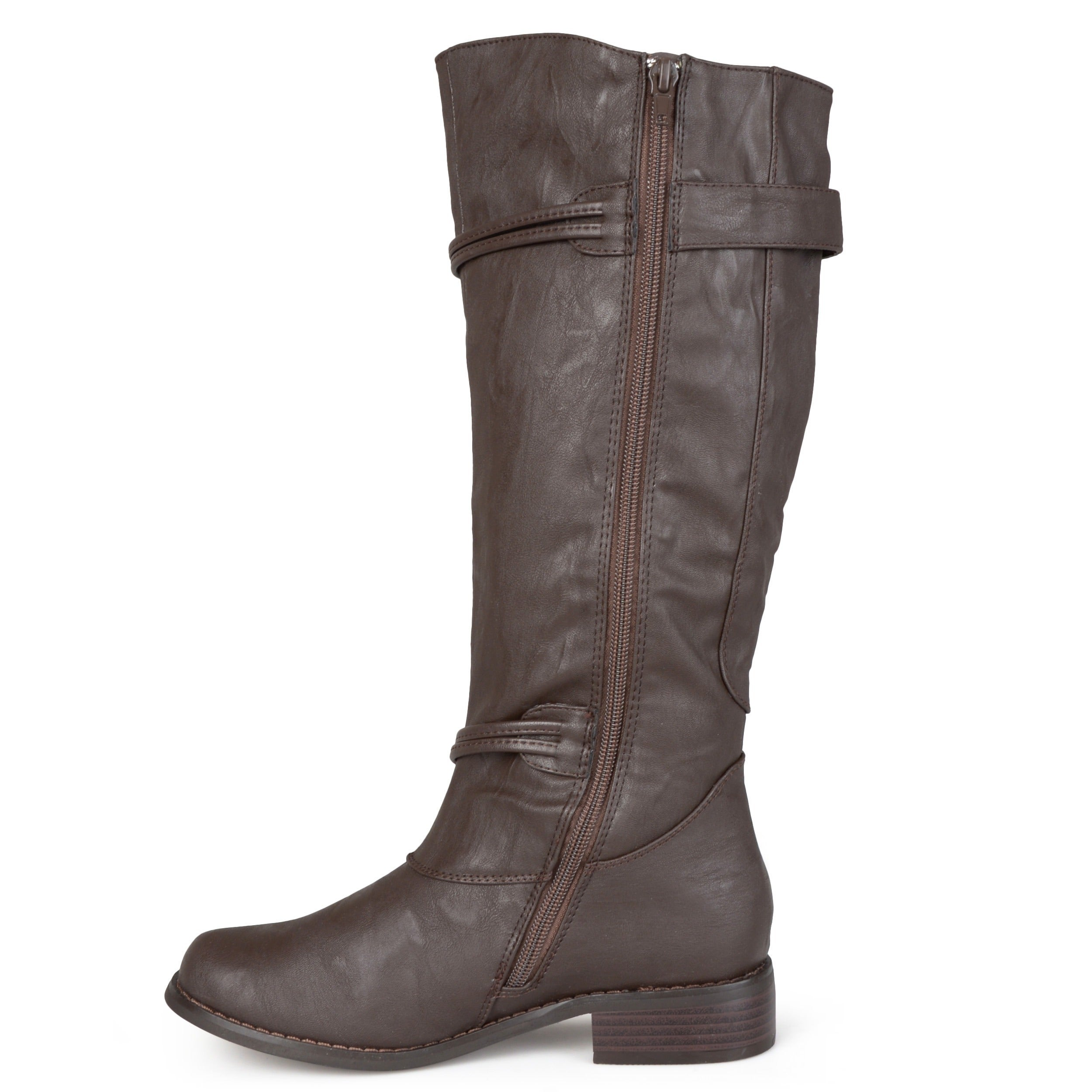 b8a7ff5aea7 Journee Collection Women s  Harley  Regular and Wide-calf Ankle-strap  Buckle Knee-high Riding Boot
