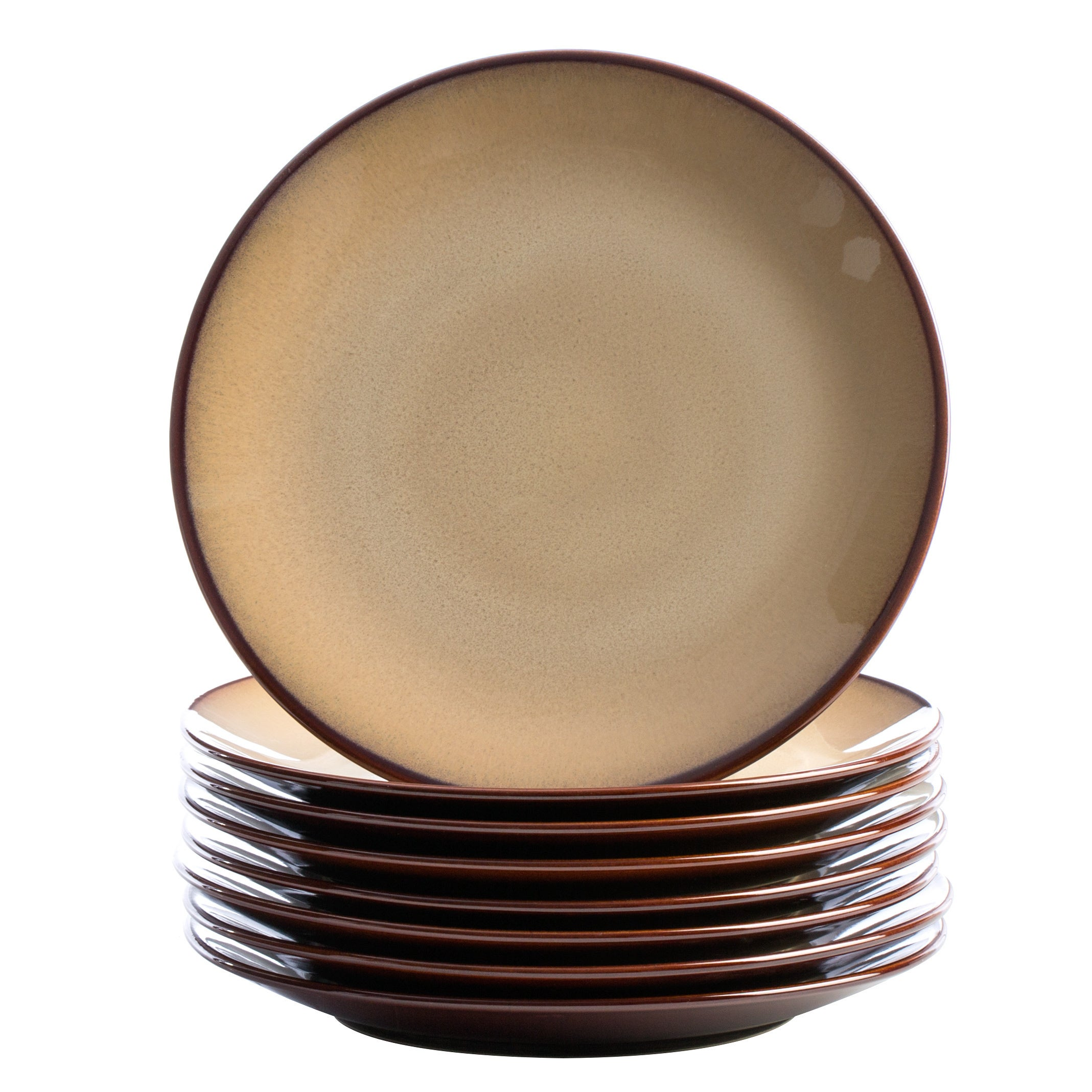 Shop Sango 40-piece Nova Brown Stoneware Dinnerware Set - Free Shipping Today - Overstock.com - 5166018  sc 1 st  Overstock : sango dinnerware sets - pezcame.com