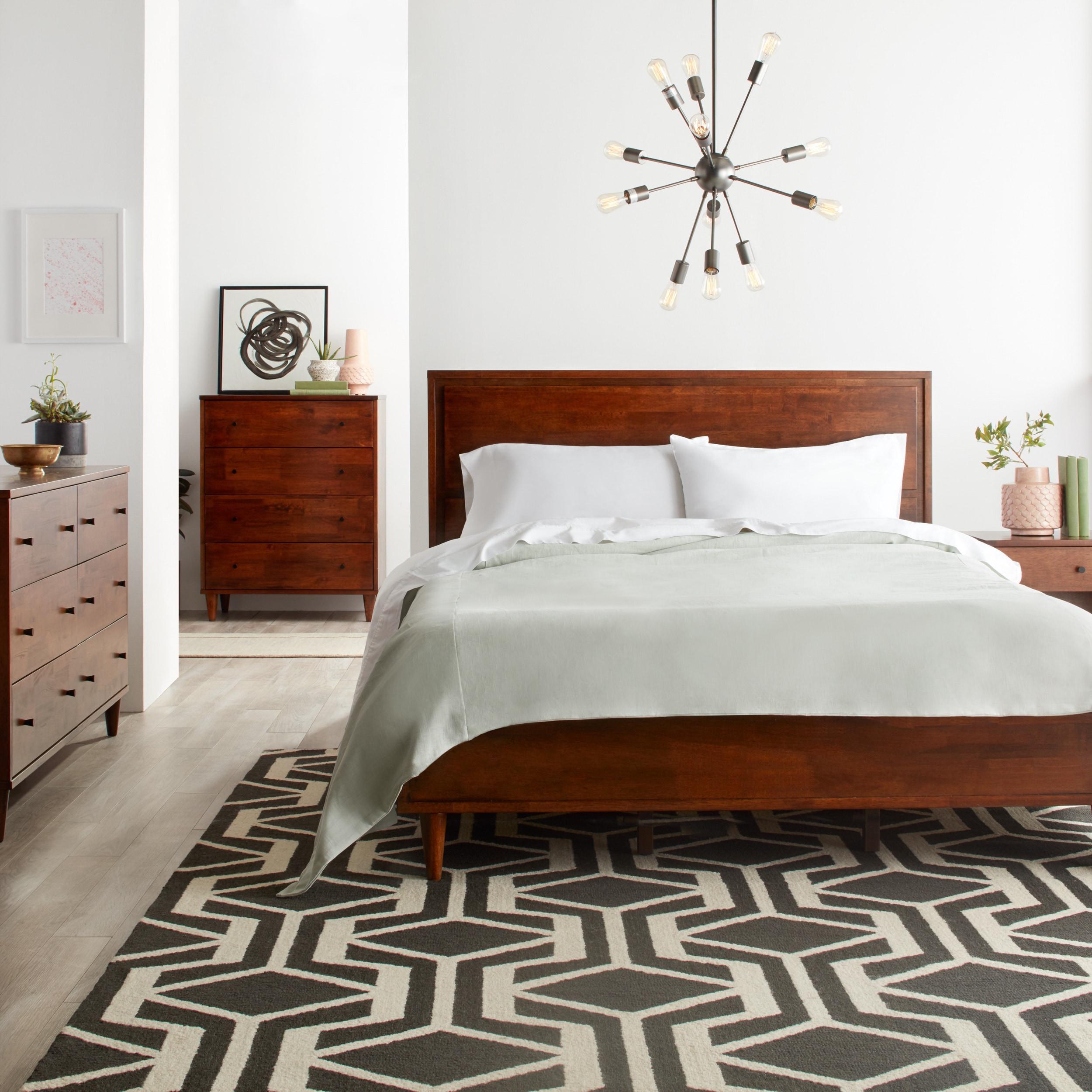 mid pin set modern bed bedroom century