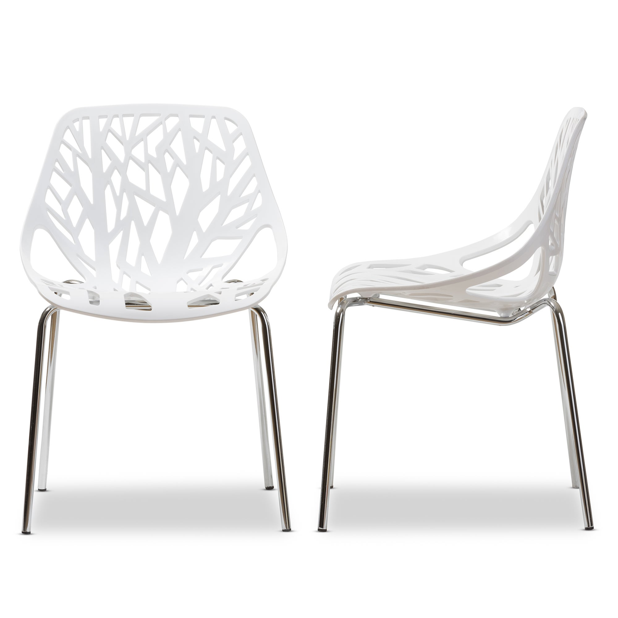 shop birch sapling plastic accent dining chairs set of 2 free