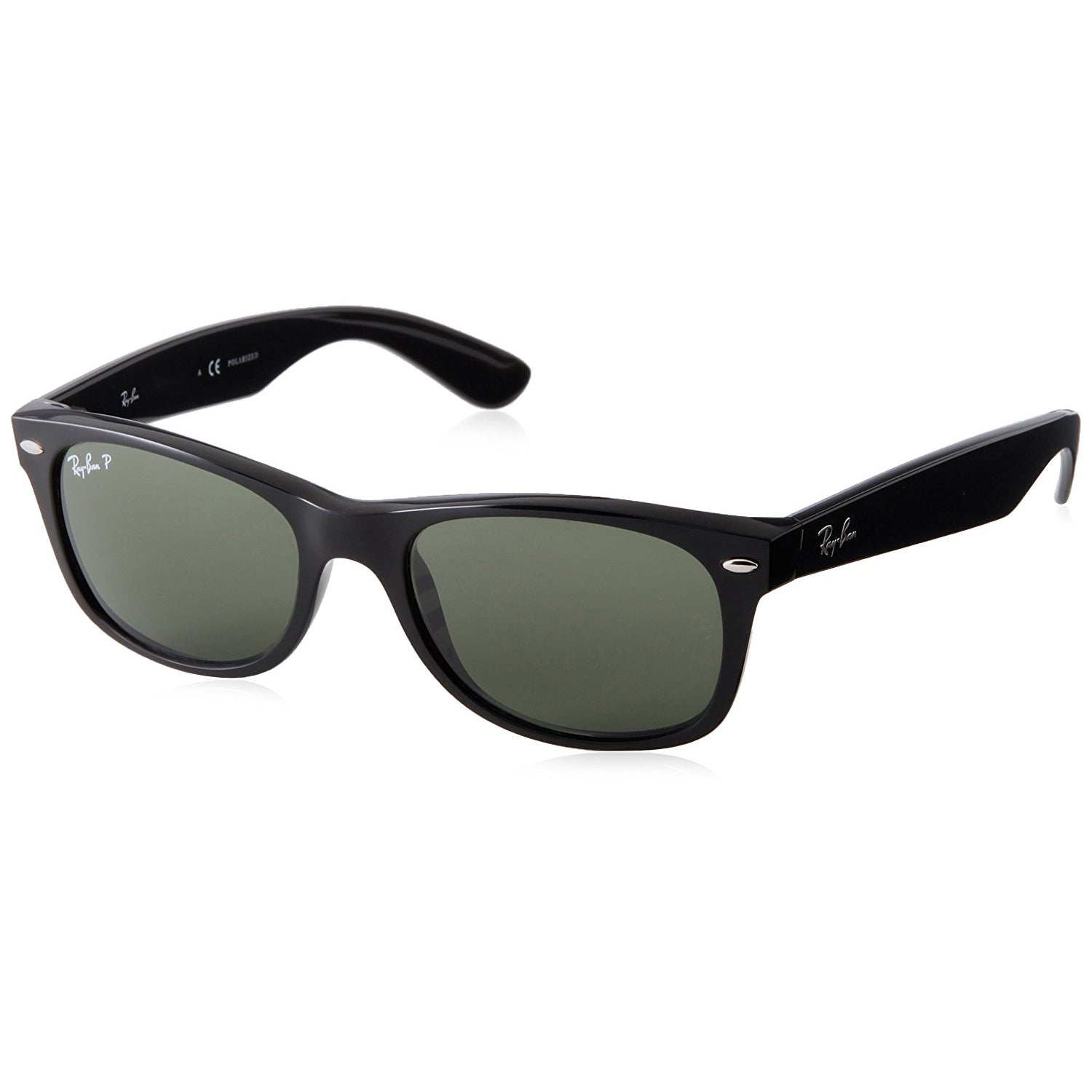524de617d04f Shop Ray-Ban New Wayfarer Classic RB 2132 Unisex Black Frame Green Classic  Lens Sunglasses - Free Shipping Today - Overstock - 5173946