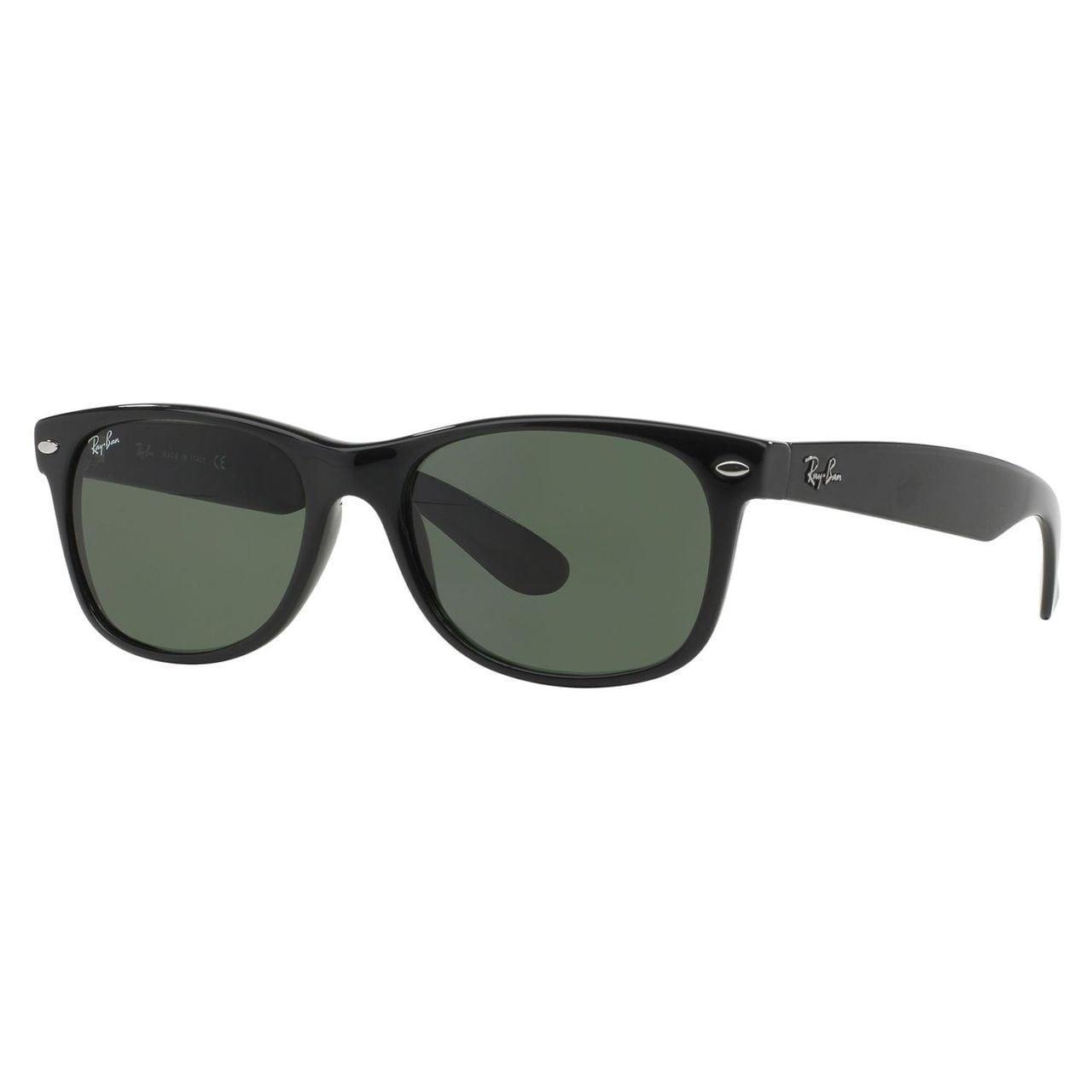 49aba58069a Ray-Ban New Wayfarer Classic RB 2132 Unisex Black Frame Green Classic Lens  Sunglasses