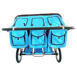 Shop Bebelove Aqua Triple Jogging Stroller Free Shipping Today