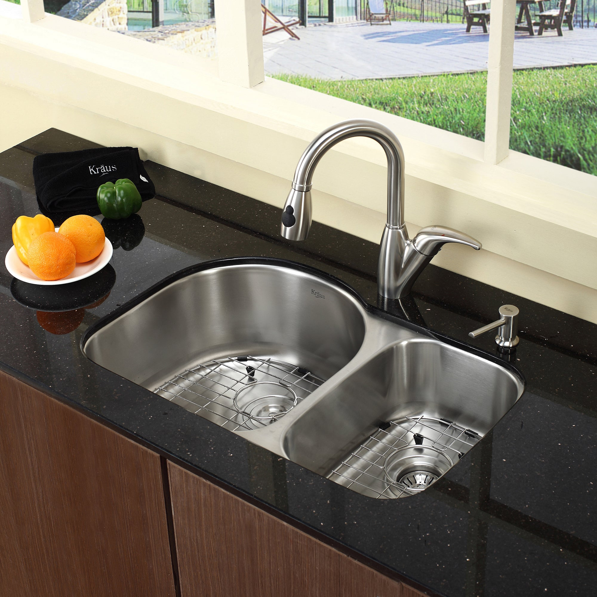 60 40 Kitchen Sink Kraus 30 inch undermount 6040 double bowl 16 gauge stainless steel kraus 30 inch undermount 6040 double bowl 16 gauge stainless steel kitchen sink with noisedefend soundproofing free shipping today overstock 13013542 workwithnaturefo