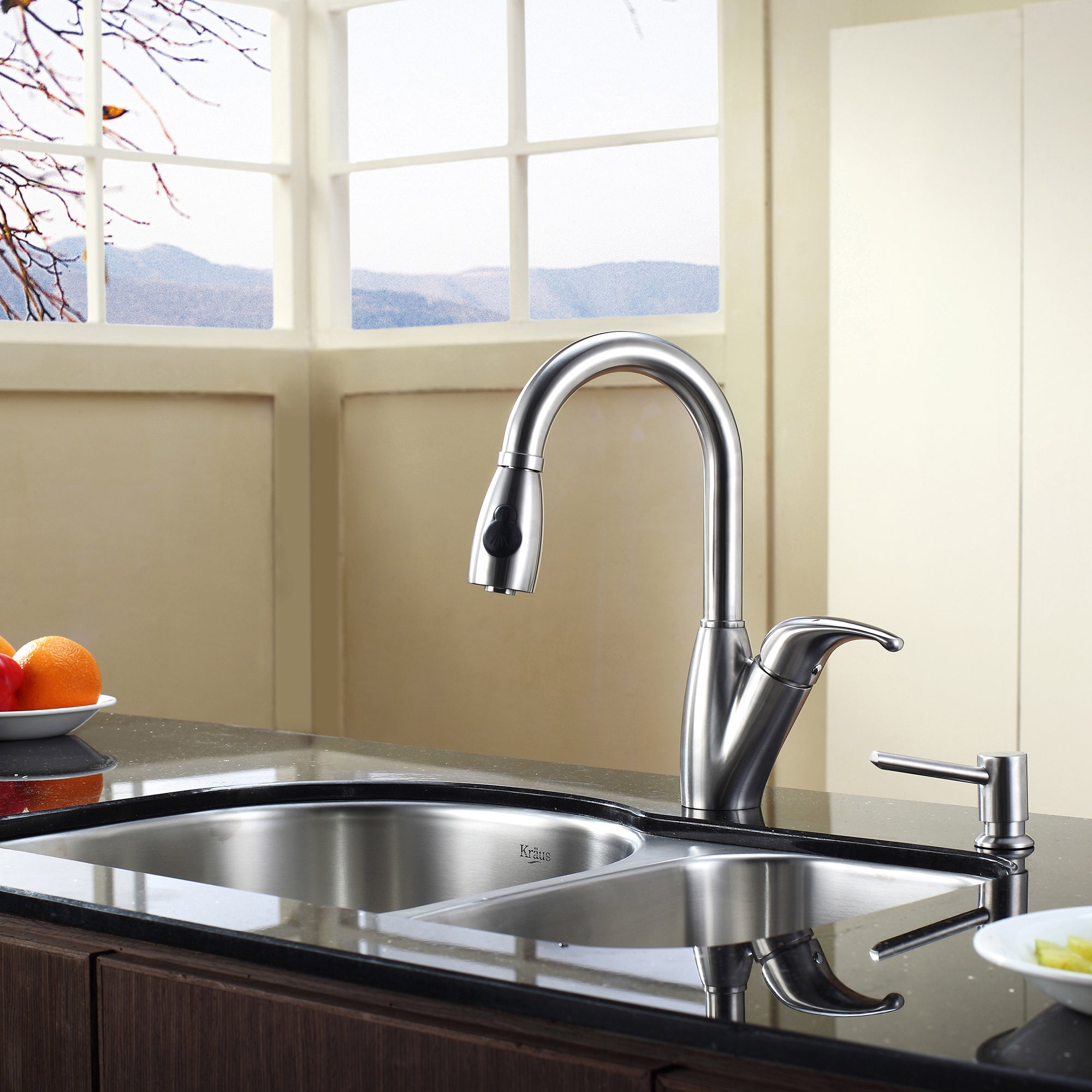 kraus 30 inch undermount 60 40 double bowl 16 gauge stainless steel kitchen sink with noisedefend soundproofing   free shipping today   overstock com       kraus 30 inch undermount 60 40 double bowl 16 gauge stainless      rh   overstock com