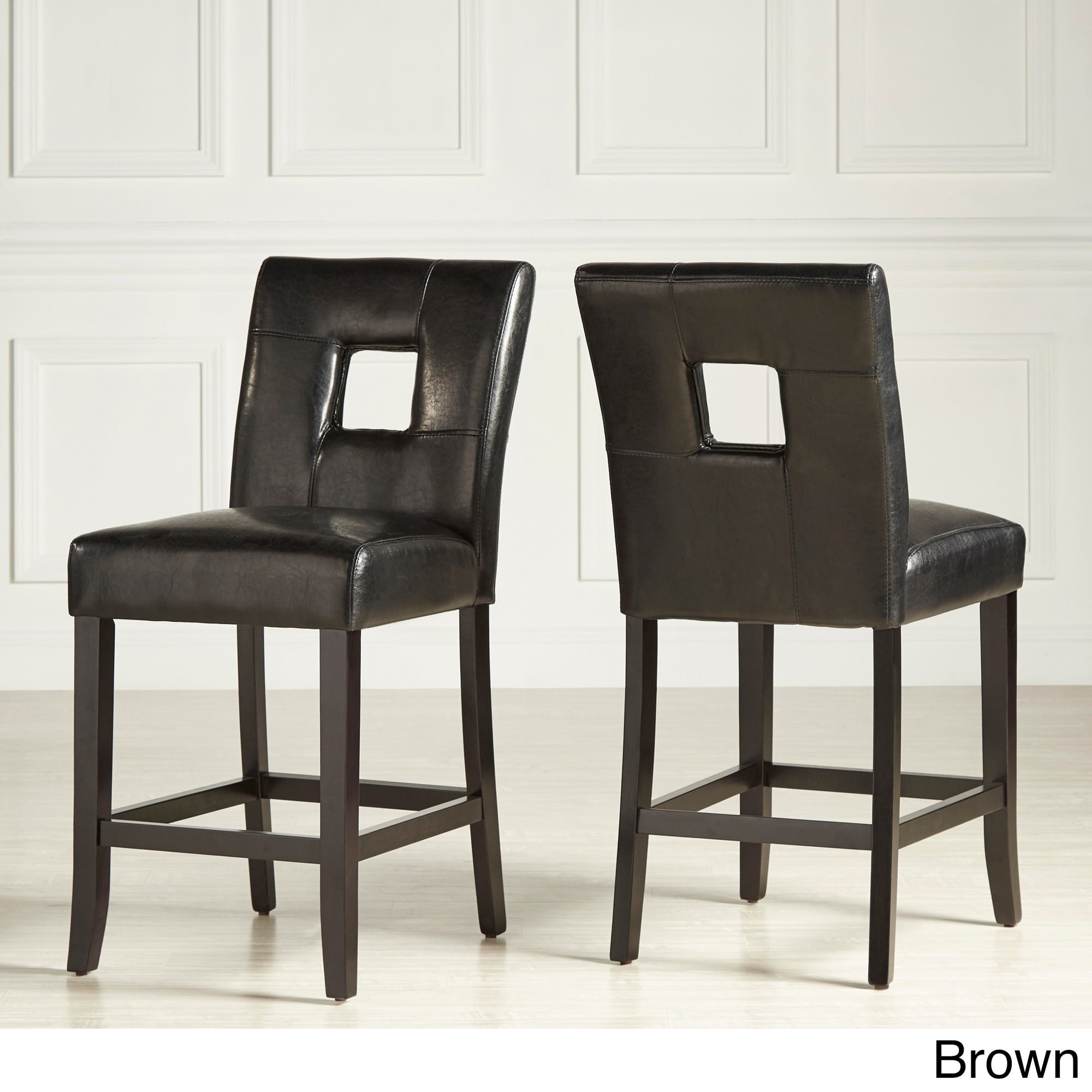 Mendoza Keyhole Counter Height High Back Stool (Set of 2) by iNSPIRE Q Bold  - Free Shipping Today - Overstock.com - 13015301