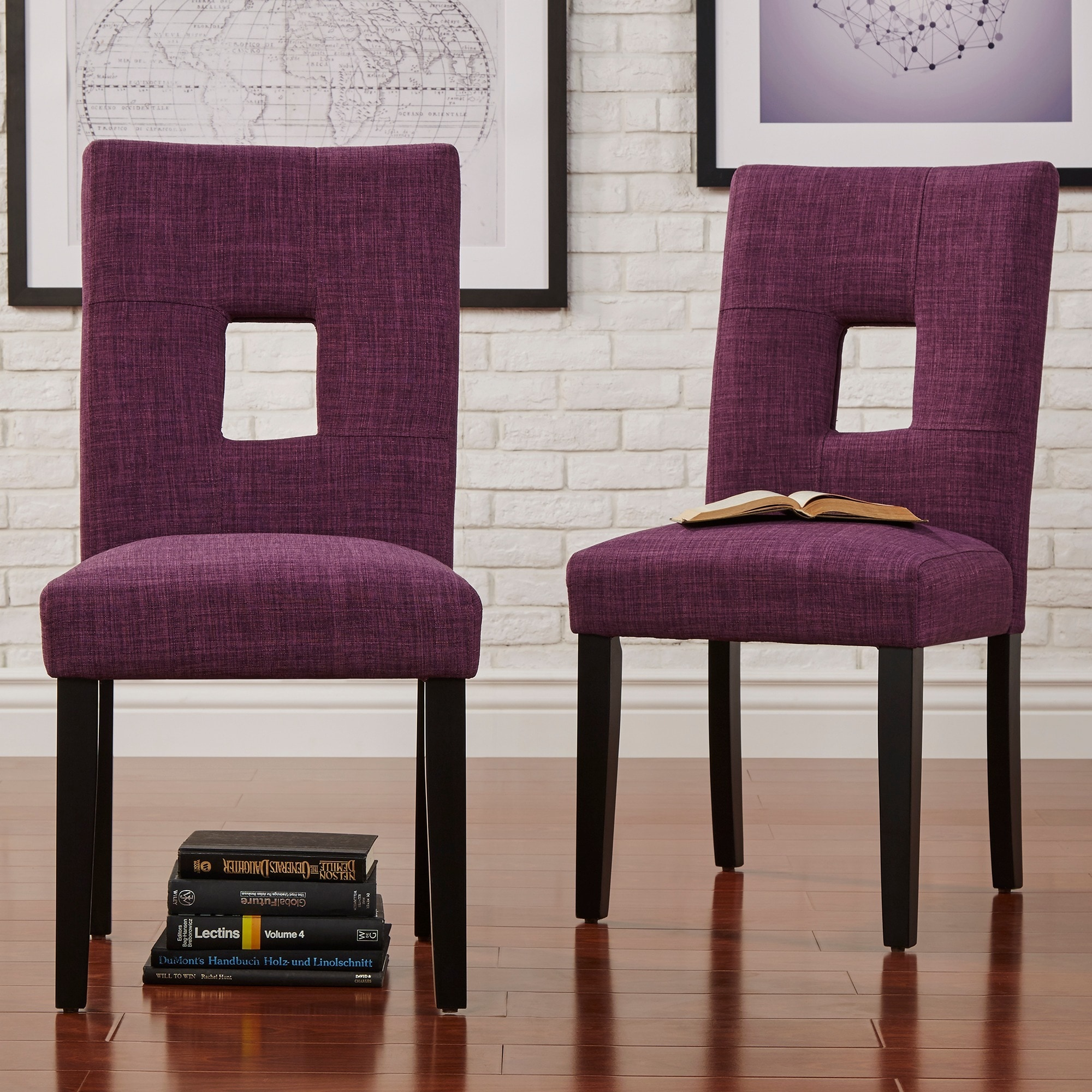 Shop mendoza keyhole back dining chairs set of 2 by inspire q bold free shipping today overstock com 5178479
