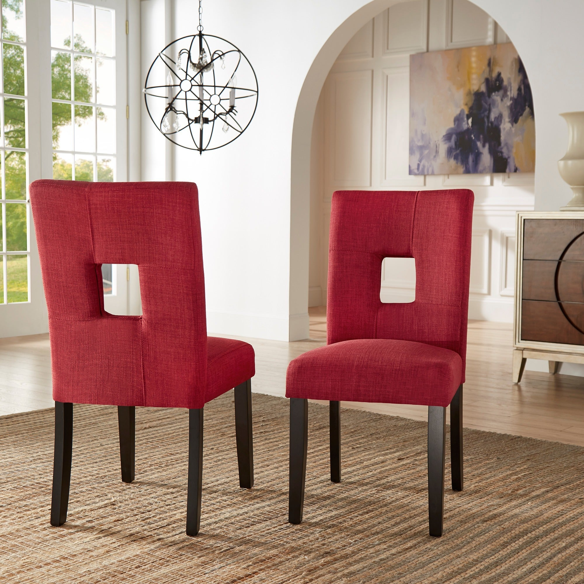 Mendoza Keyhole Back Dining Chairs Set Of 2 By Inspire Q Bold Free Shipping Today 5178479