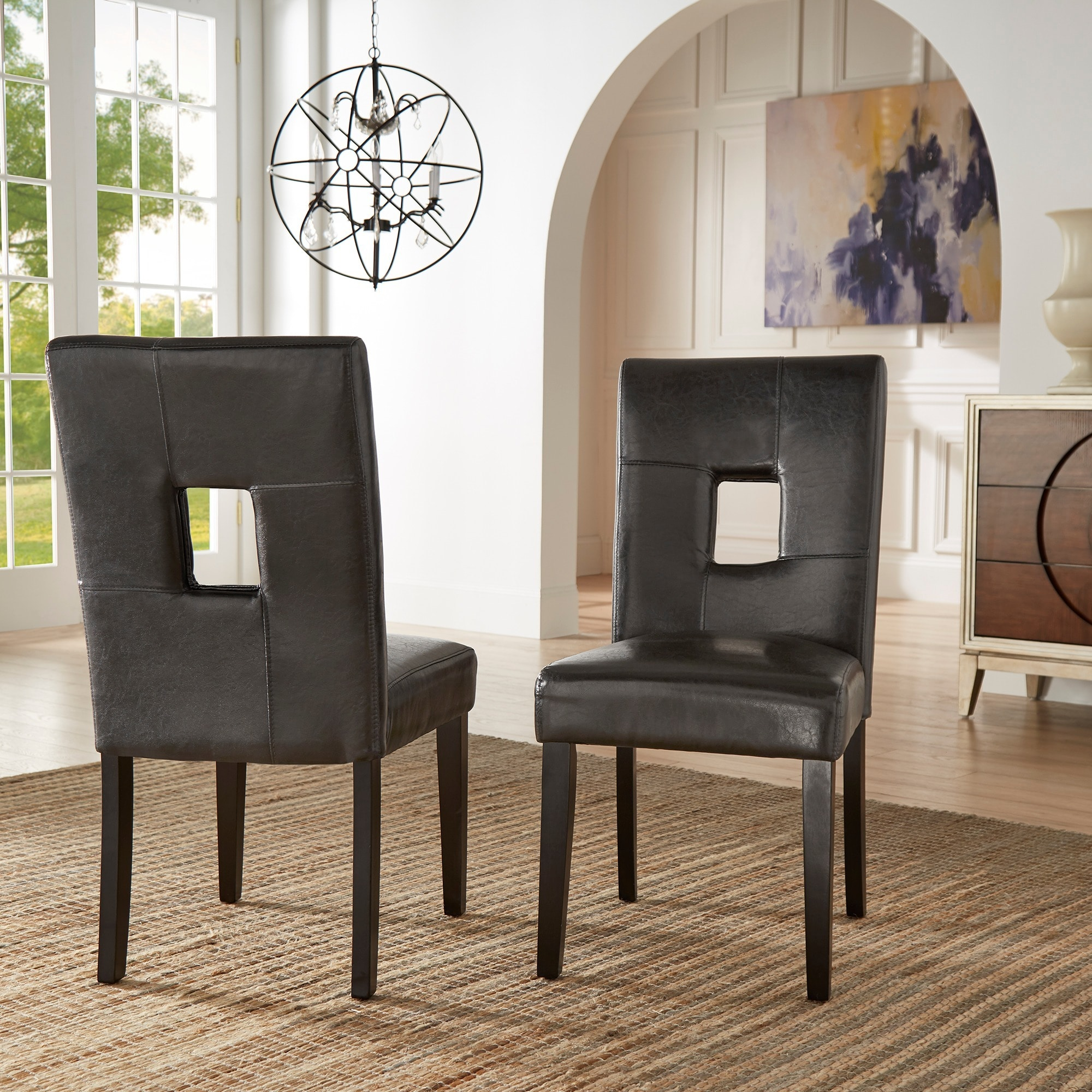 Shop Mendoza Keyhole Back Dining Chairs (Set Of 2) By INSPIRE Q Bold   On  Sale   Free Shipping Today   Overstock.com   5178479