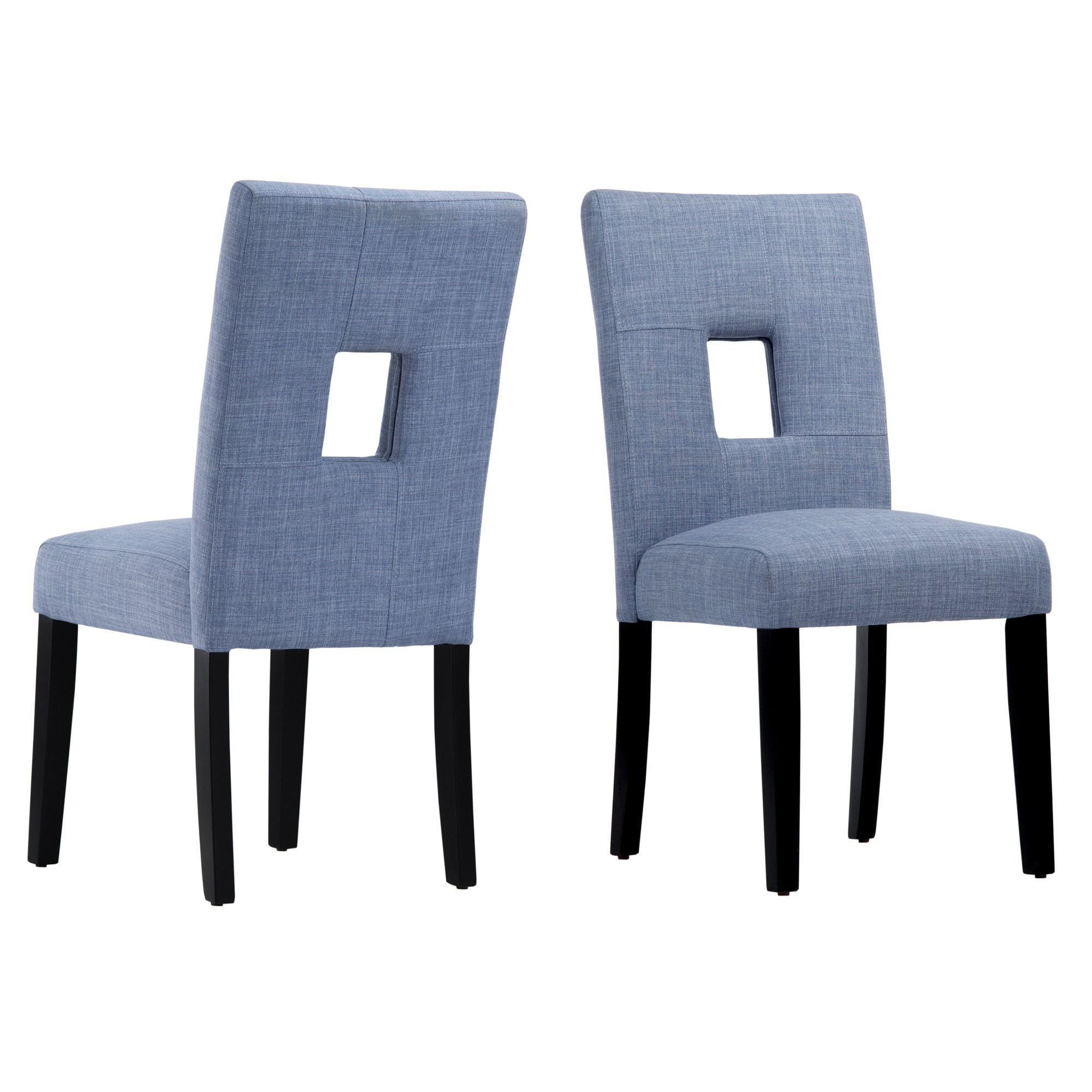 Mendoza Keyhole Back Dining Chairs (Set of 2) by iNSPIRE Q Bold - Free  Shipping Today - Overstock.com - 13015302