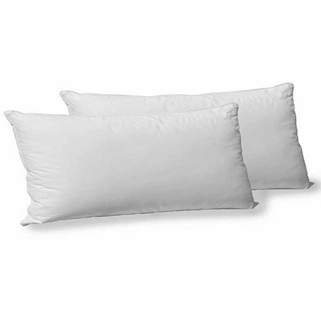 Cotton Polyester Gel Filled King Size Pillow Set Of 2 White