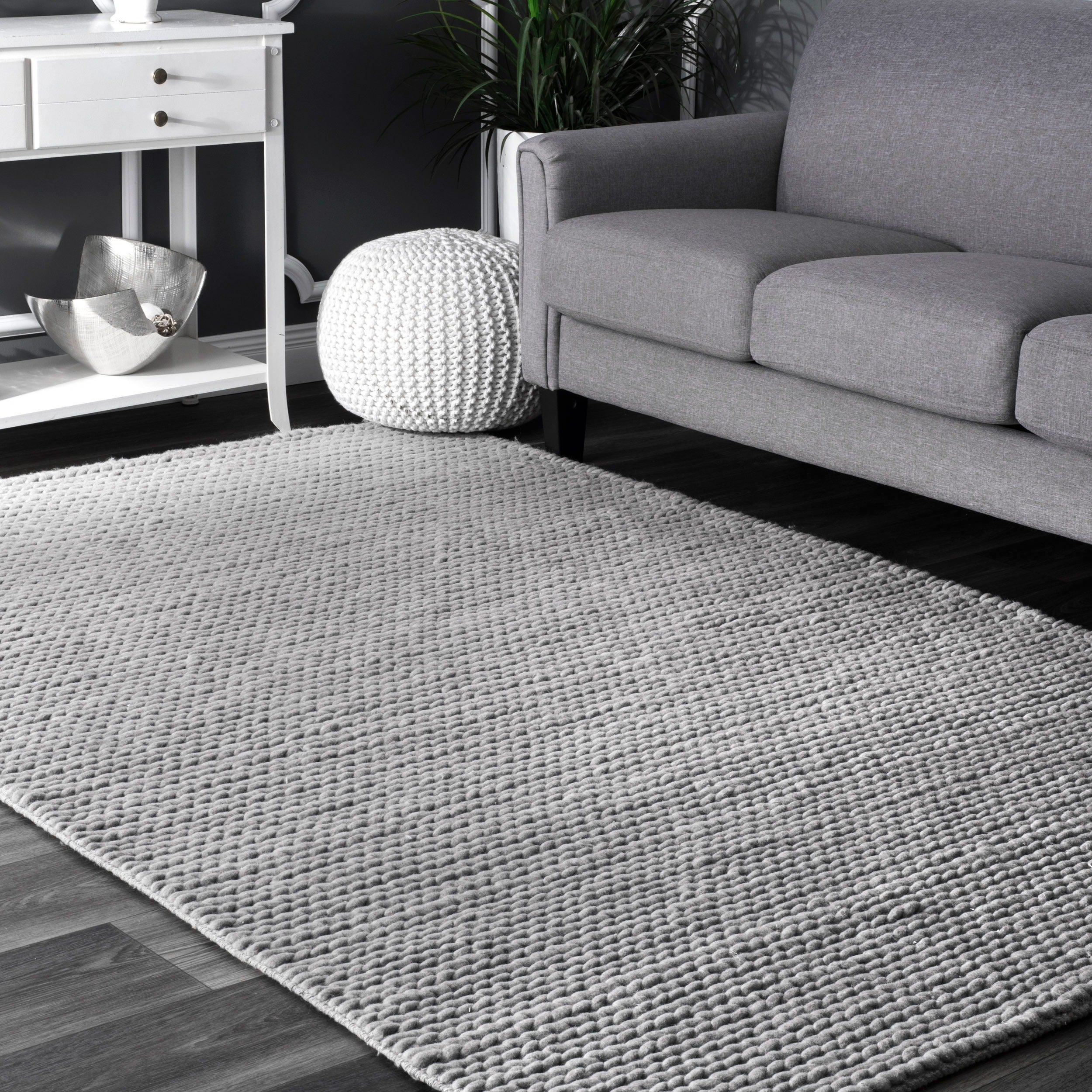 Shop Nuloom Handmade Braided Cable White New Zealand Wool Rug 5 X Under Carpet Flat Wiring System Additionally 8 On Sale Free Shipping Today 5187236