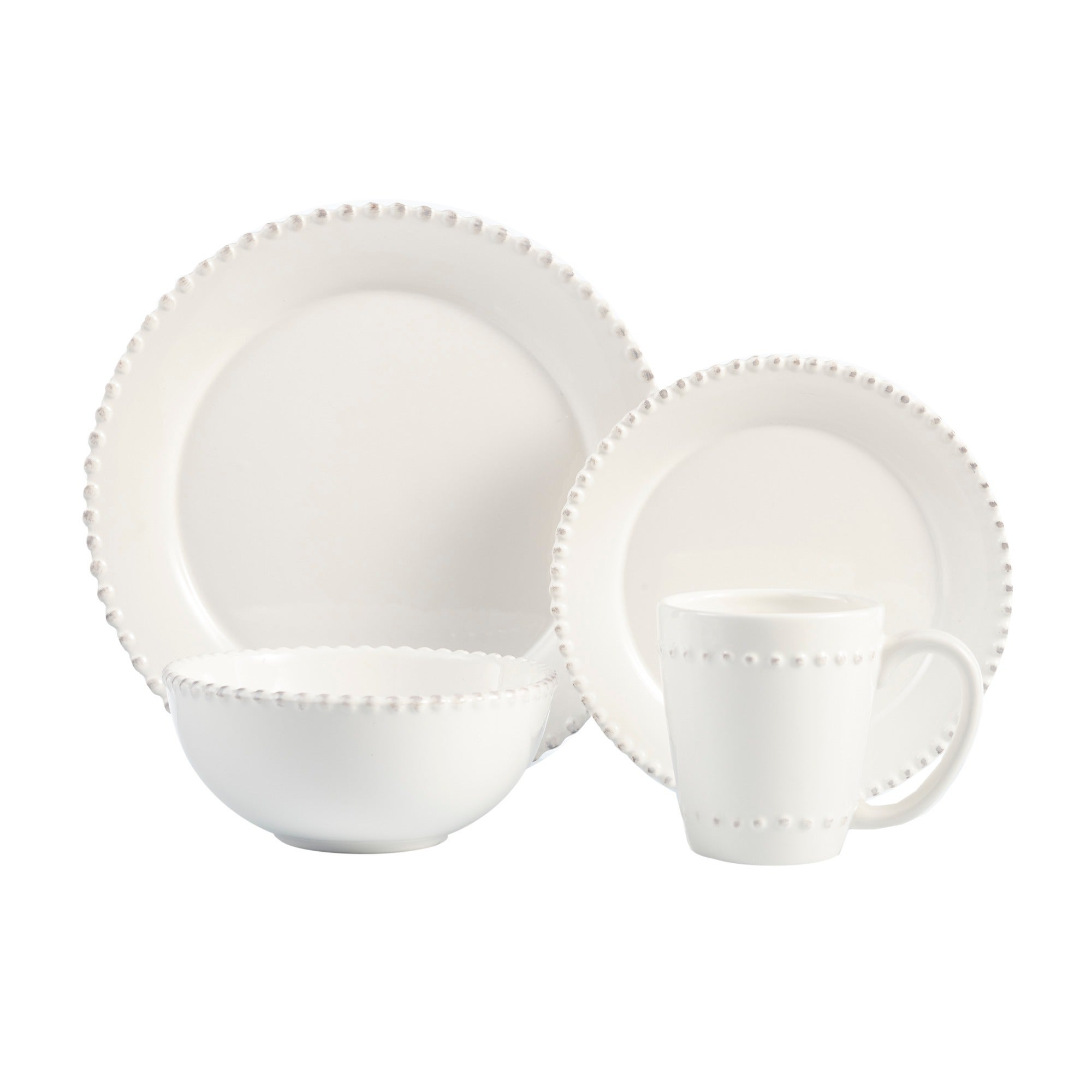 American Atelier Bianca Bead 16-piece Dinnerware Set - Free Shipping Today - Overstock - 13025720  sc 1 st  Overstock.com & American Atelier Bianca Bead 16-piece Dinnerware Set - Free Shipping ...