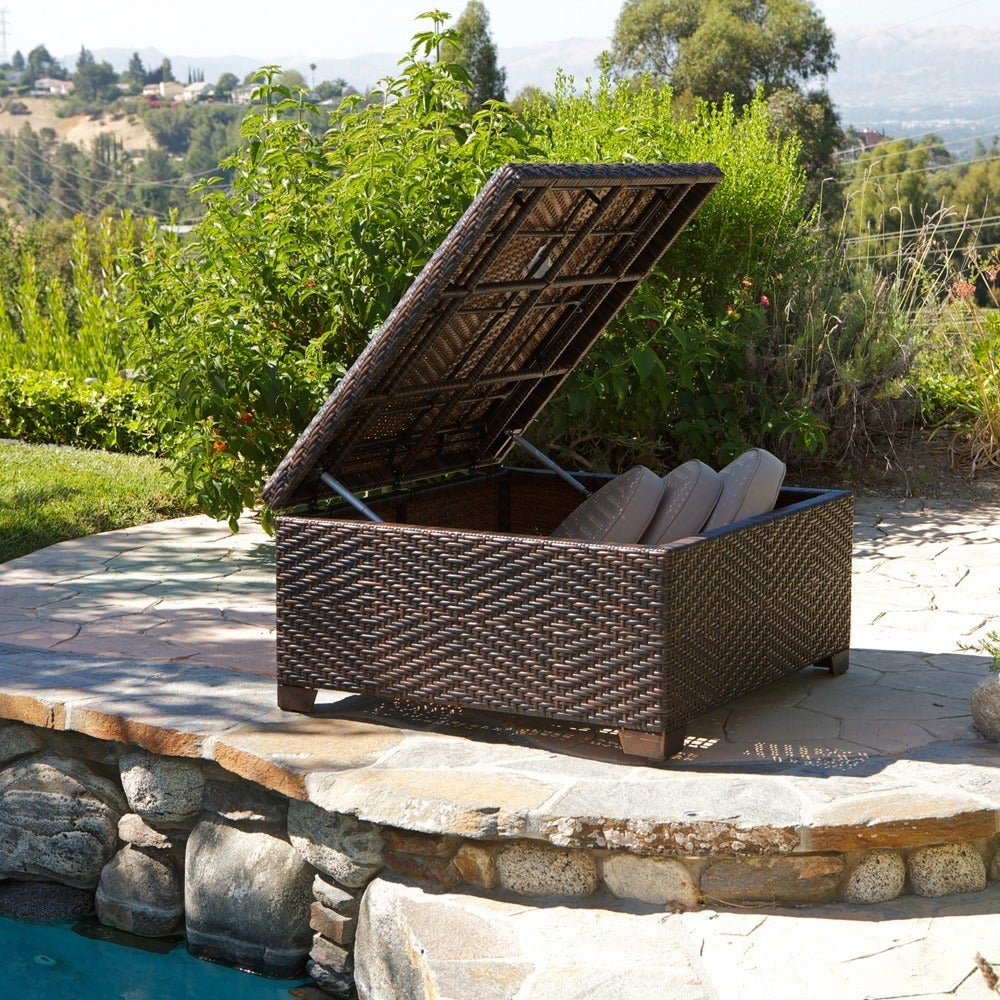 Merveilleux Shop Wicker Brown Indoor/ Outdoor Storage Ottoman By Christopher Knight  Home   Free Shipping Today   Overstock.com   5195945