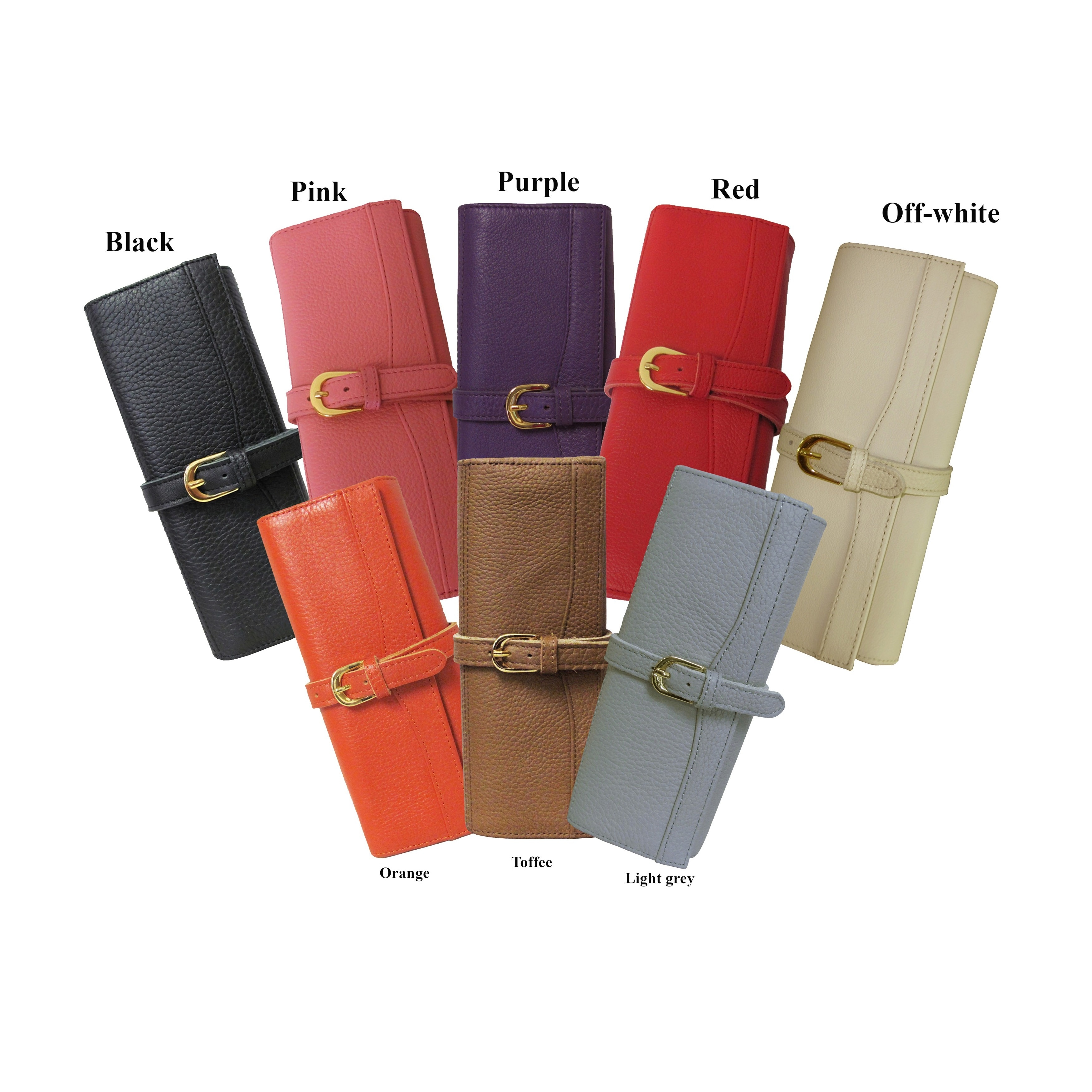 bd69d8a740bf Amerileather Leather Jewelry Roll with Three Interior Pockets