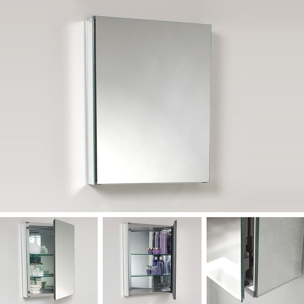 Fresca Small Bathroom Mirror Medicine Cabinet - Free Shipping Today ...