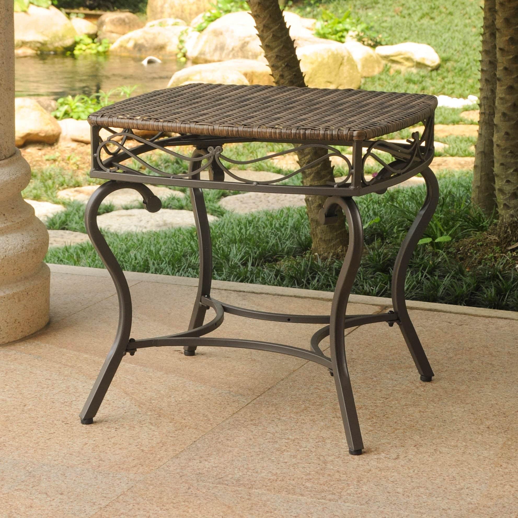 Brown Resin Outdoor Side Table 12 20 Kaartenstemp Nl