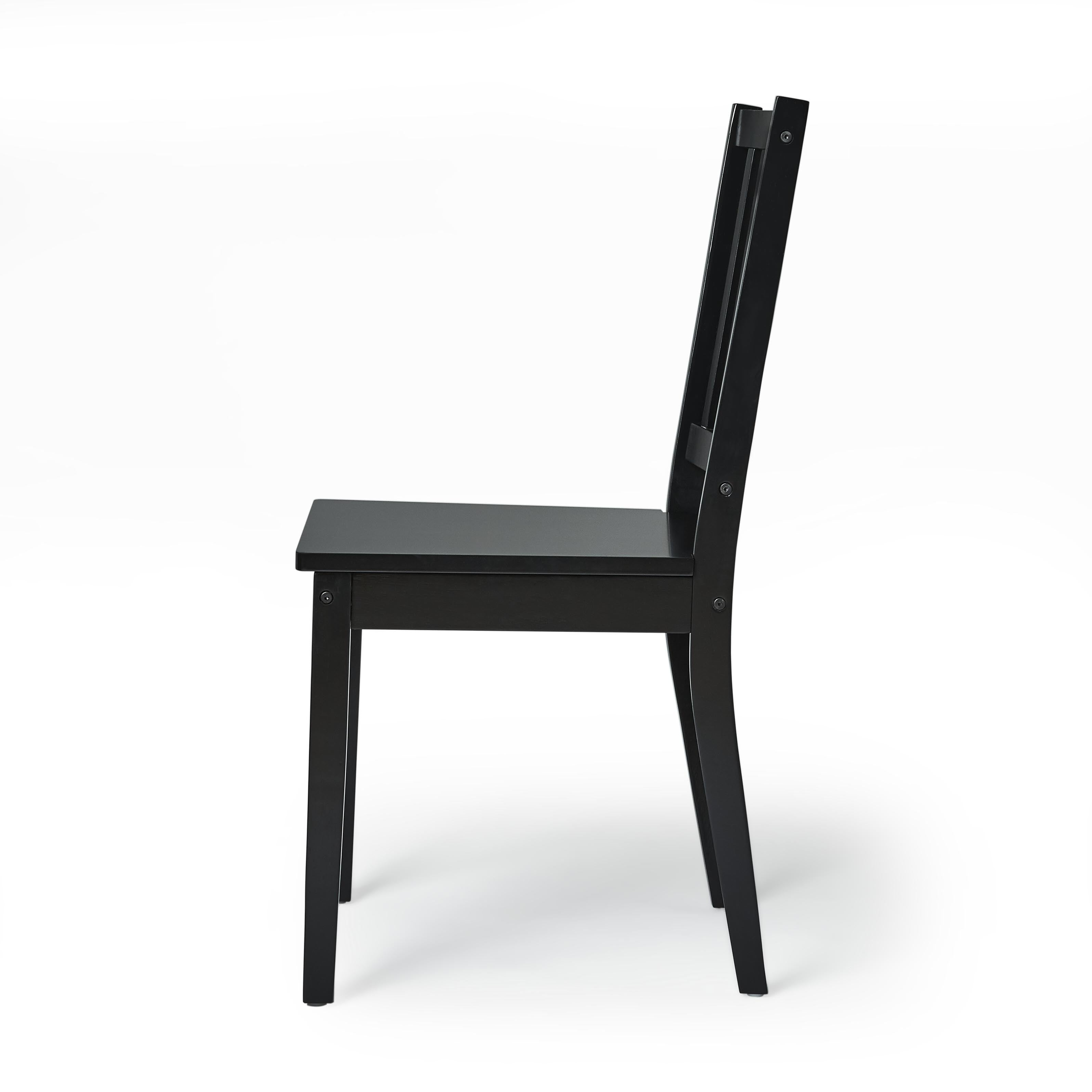 Simple Living Slat Black Rubberwood Dining Chairs Set Of 4 Free Shipping Today 5206391