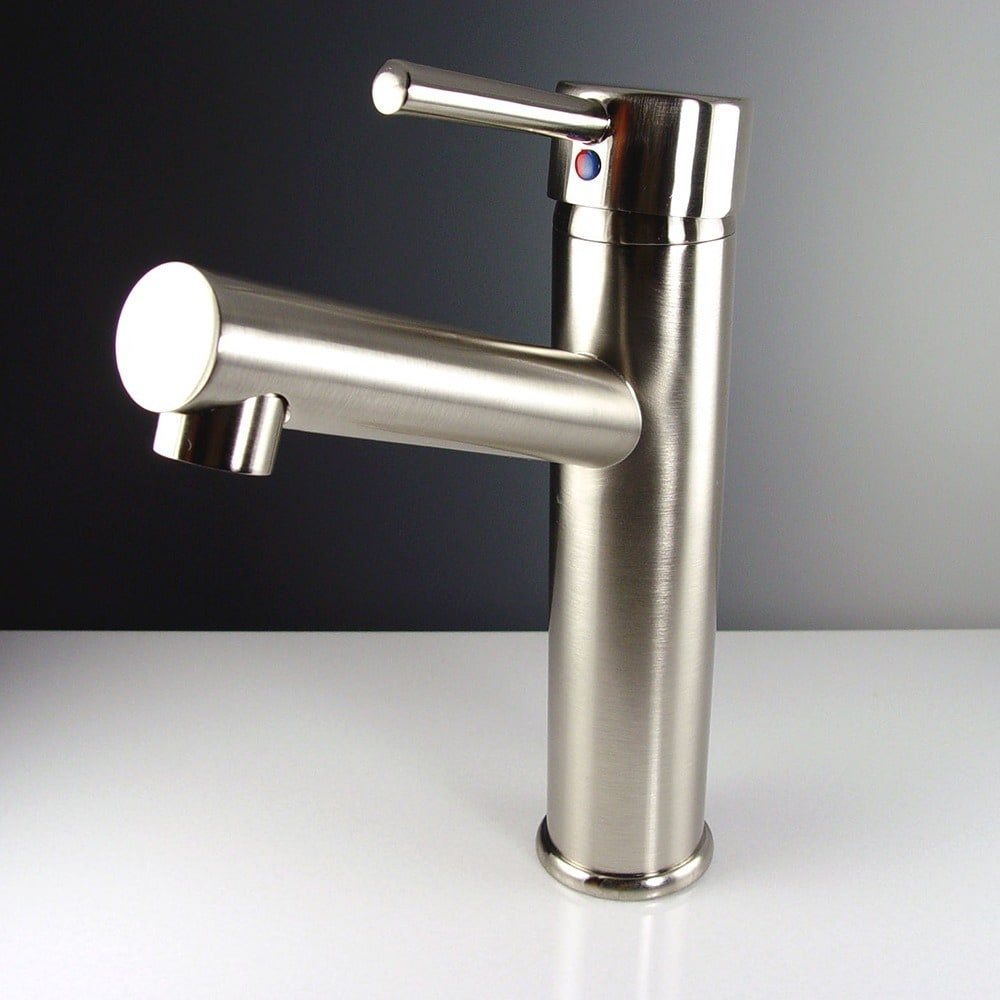 Shop Fresca Savio Brushed Nickel Bathroom Faucet - Free Shipping ...