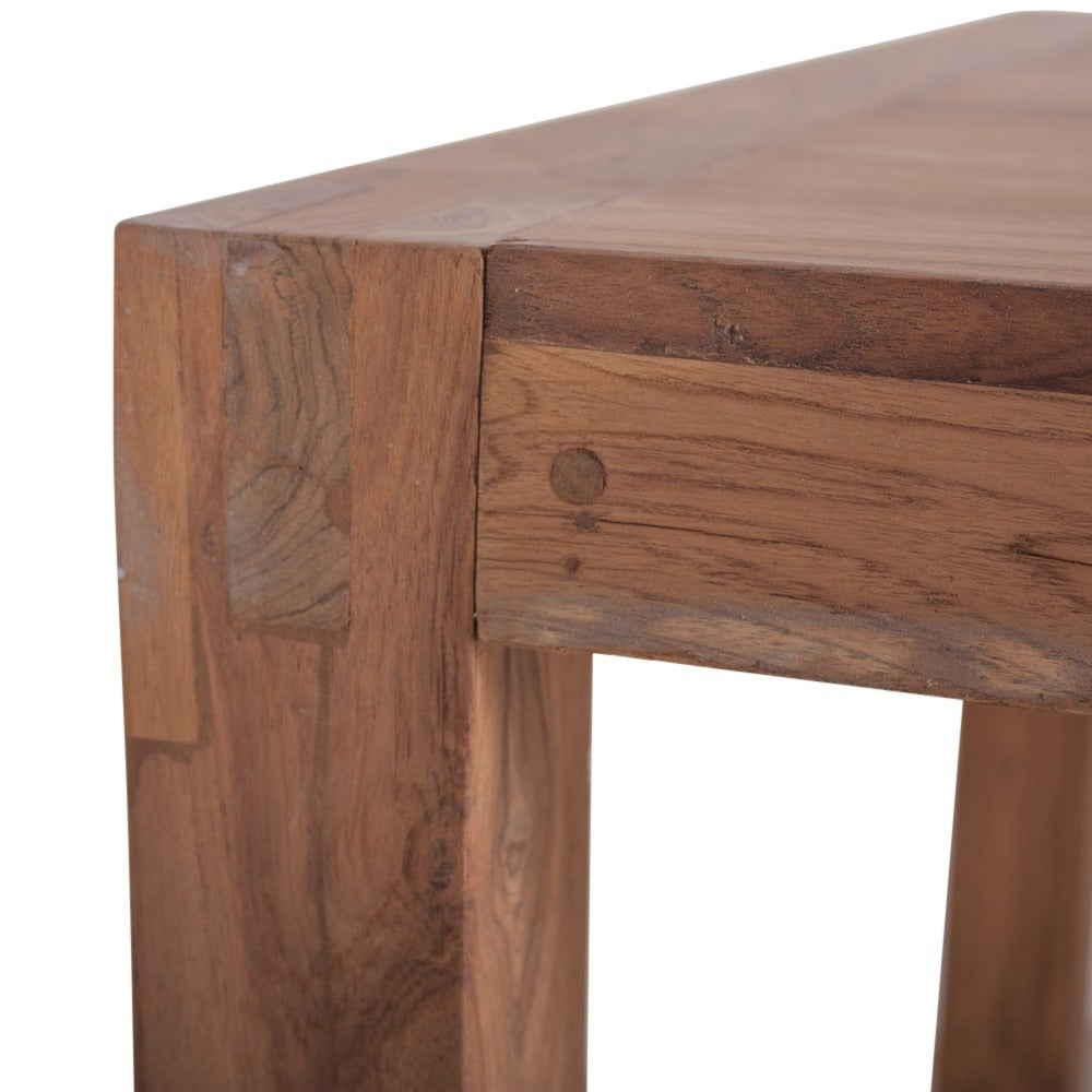 CG Sparks Reclaimed Teak Wood 6u0027 Simple Dining Table (India)   Free  Shipping Today   Overstock   13045395