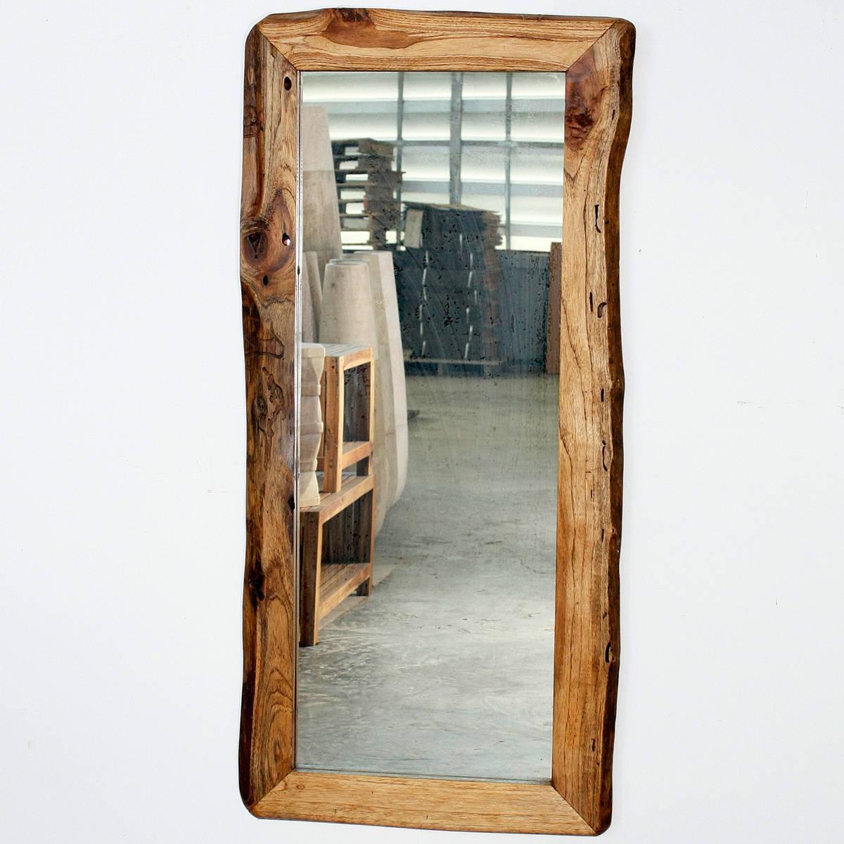 Handmade Teak Wood Walnut Oil Rectangular Floor Mirror (Thailand ...