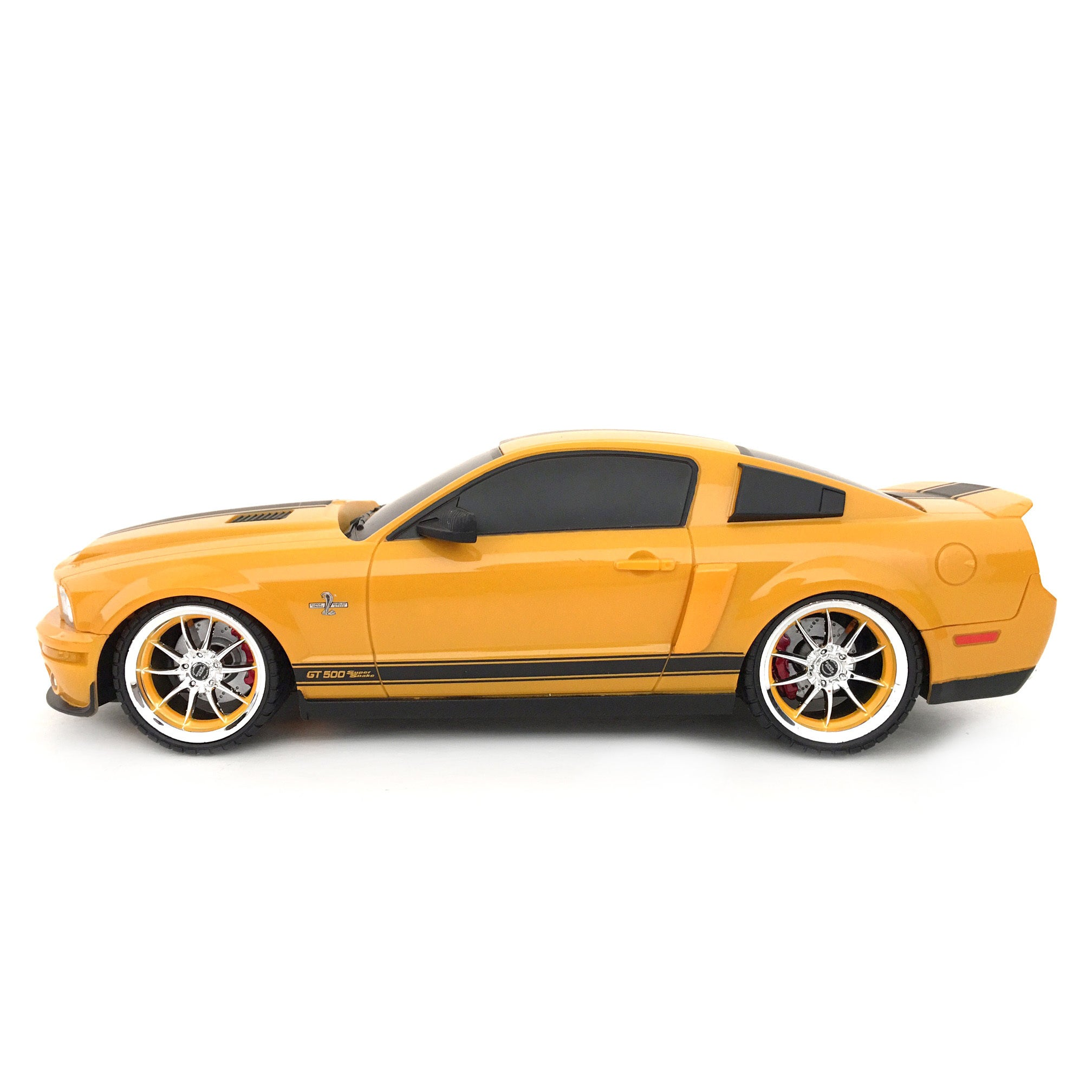 Shop 2 4 ghz multi channels remote control 118 scale ford shelby gt500 super snake rc ford mustang yellow free shipping today overstock 5230783