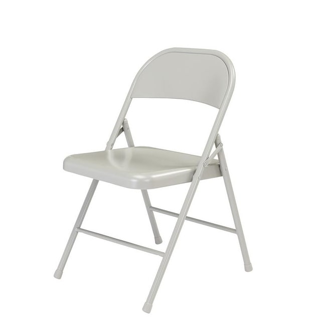 Shop NPS Commercialine All Steel Folding Chair (Pack Of 4)   Free Shipping  Today   Overstock.com   5235492