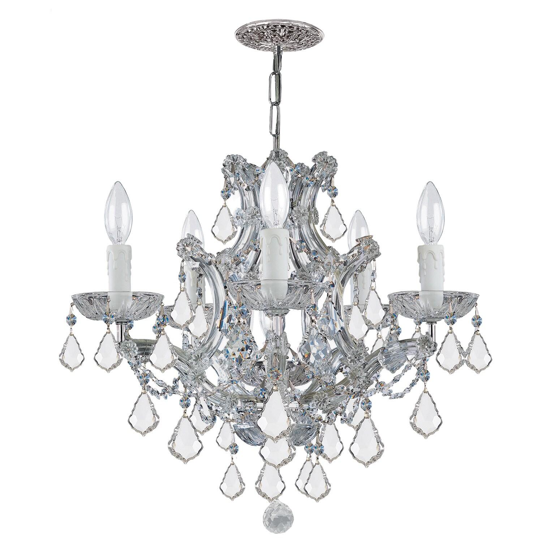 Crystorama Maria Theresa 5 Light Crystal Chandelier On Free Today Com 5243175