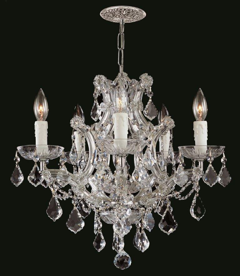Shop Crystorama Maria Theresa 5 light Crystal Chandelier