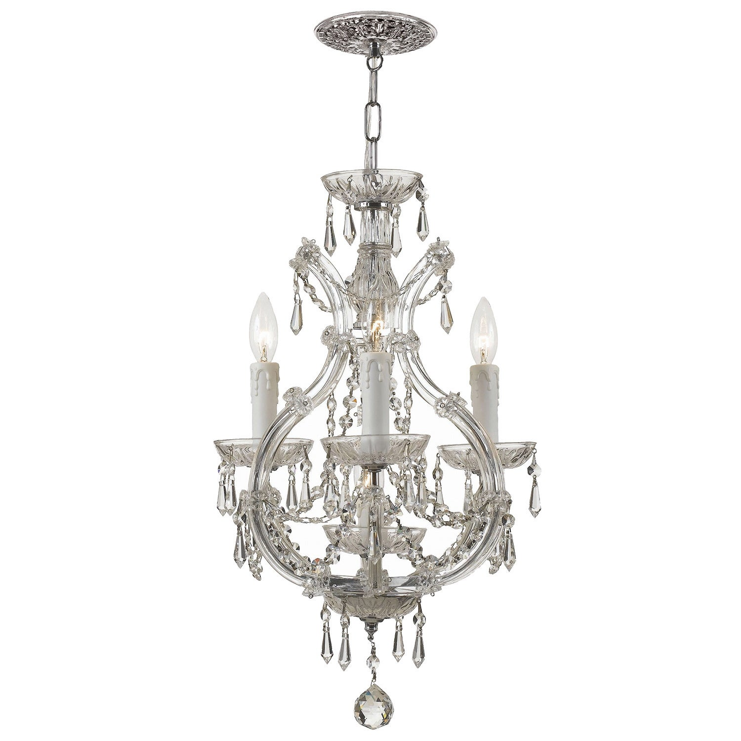 Crystorama maria theresa 3 light polished chrome mini chandelier crystorama maria theresa 3 light polished chrome mini chandelier free shipping today overstock 13065507 aloadofball Images