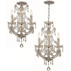 Shop crystorama maria theresa 3 light polished chrome mini shop crystorama maria theresa 3 light polished chrome mini chandelier on sale free shipping today overstock 5243214 aloadofball Images