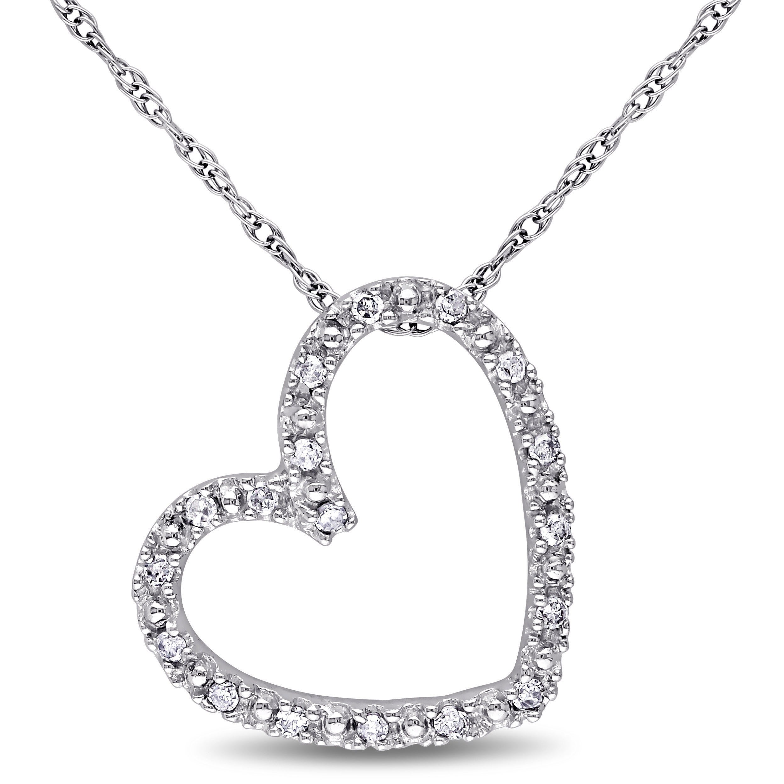 yellow diamond gold products ct necklace in vintage heart pendant you love total