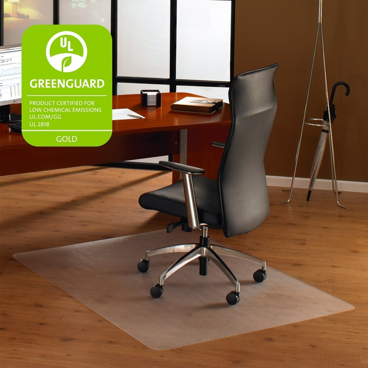 Cleartex Ultimat Chair Mat Square Clear Polycarbonate For Hard Floors Size 48 X
