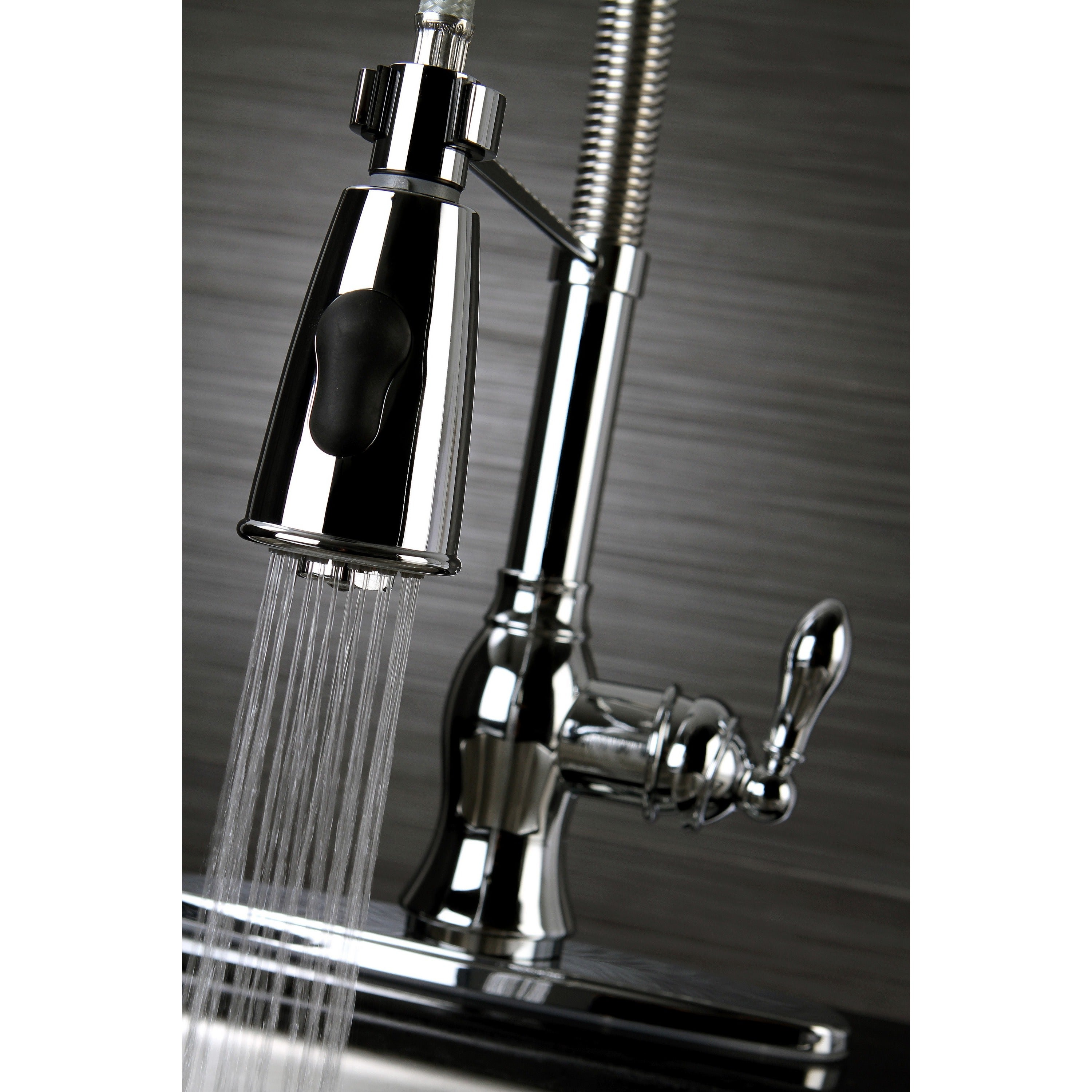 Shop American Classic Modern Chrome Spiral Pull-down Kitchen Faucet ...
