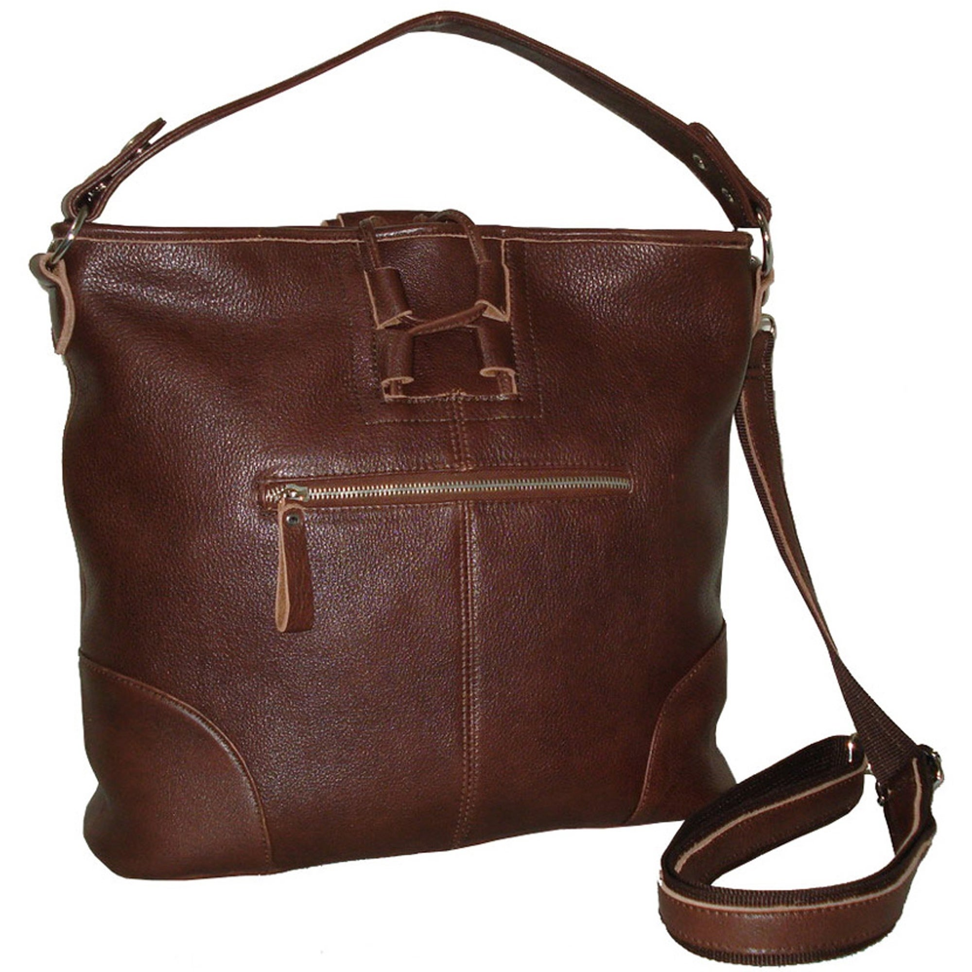 046499676 Greatest Amerileather 'Mandy' Woven Leather Handbag - Free Shipping Today  HY12
