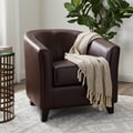 Abbyson Montecito Dark Brown Leather Armchair