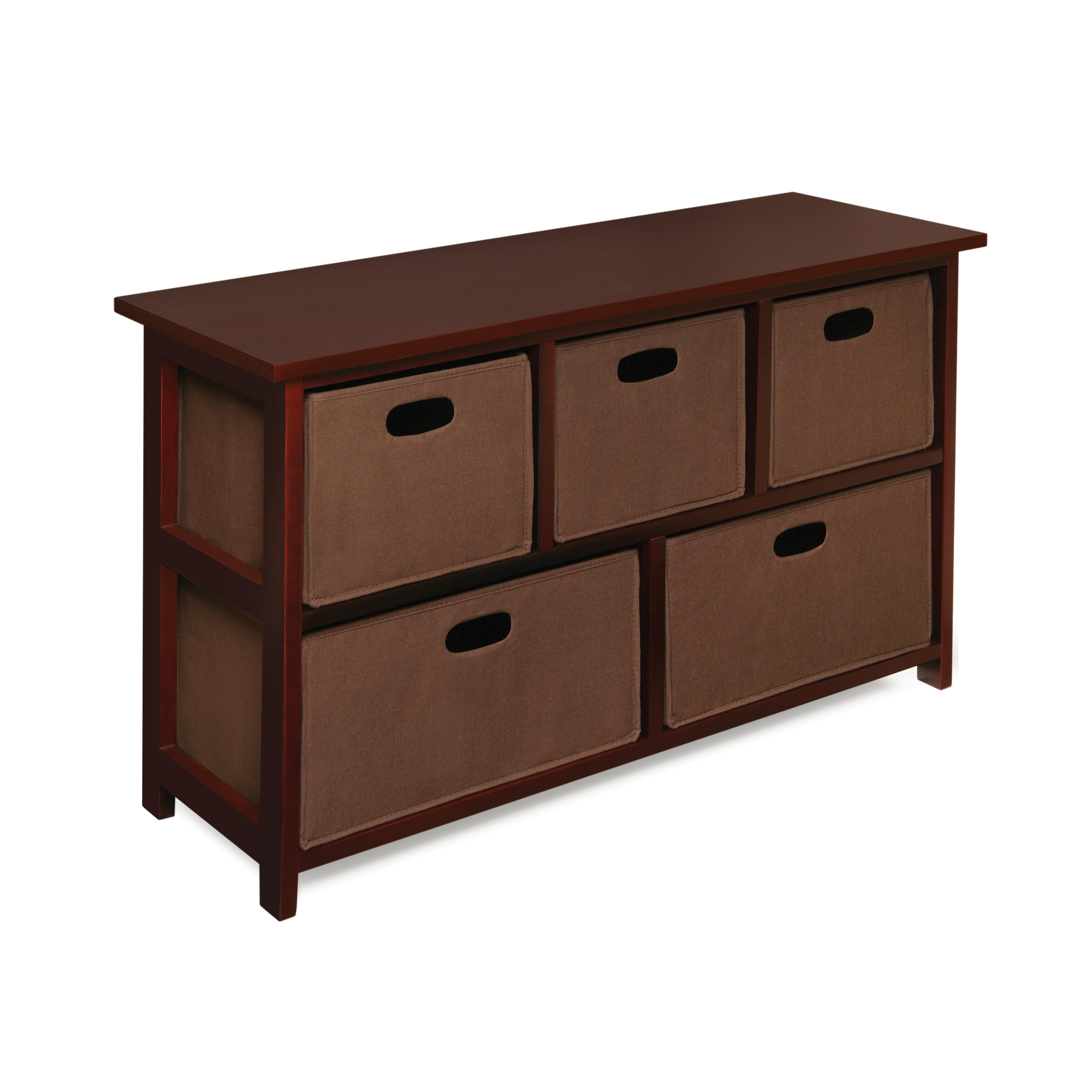 Children S Wooden Cherry Storage Cabinet With Baskets Free Shipping Today 5288051