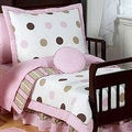 Sweet JoJo Designs Pink/ Brown Modern Polka Dot 5-piece Toddler Girl's Bedding Set