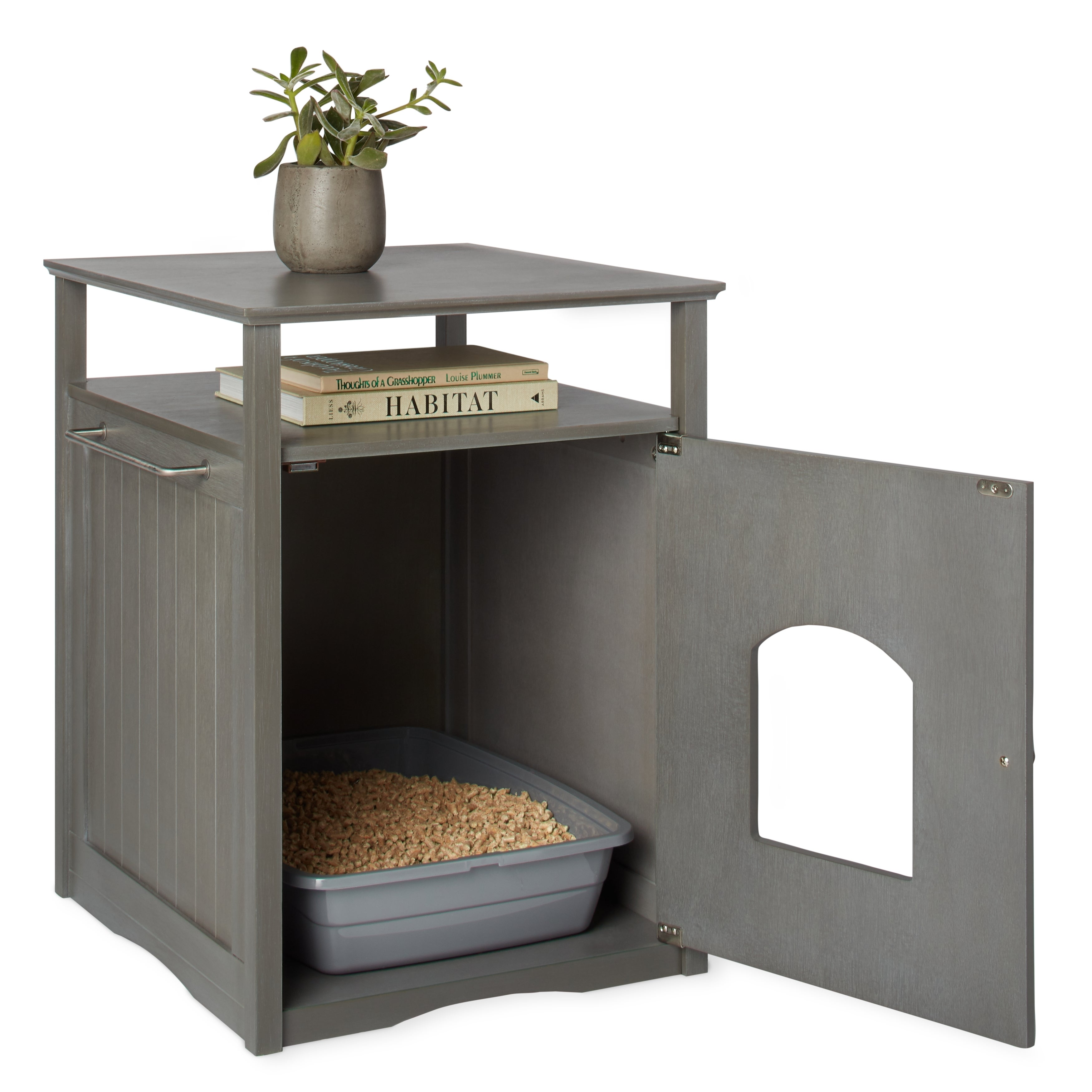 Shop Merry Products Furniture Hidden Cat Litter Box Enclosure   Free  Shipping Today   Overstock.com   5300326