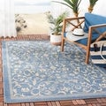 Safavieh Resorts Scrollwork Blue/ Natural Indoor/ Outdoor Rug (6' 7 Square)