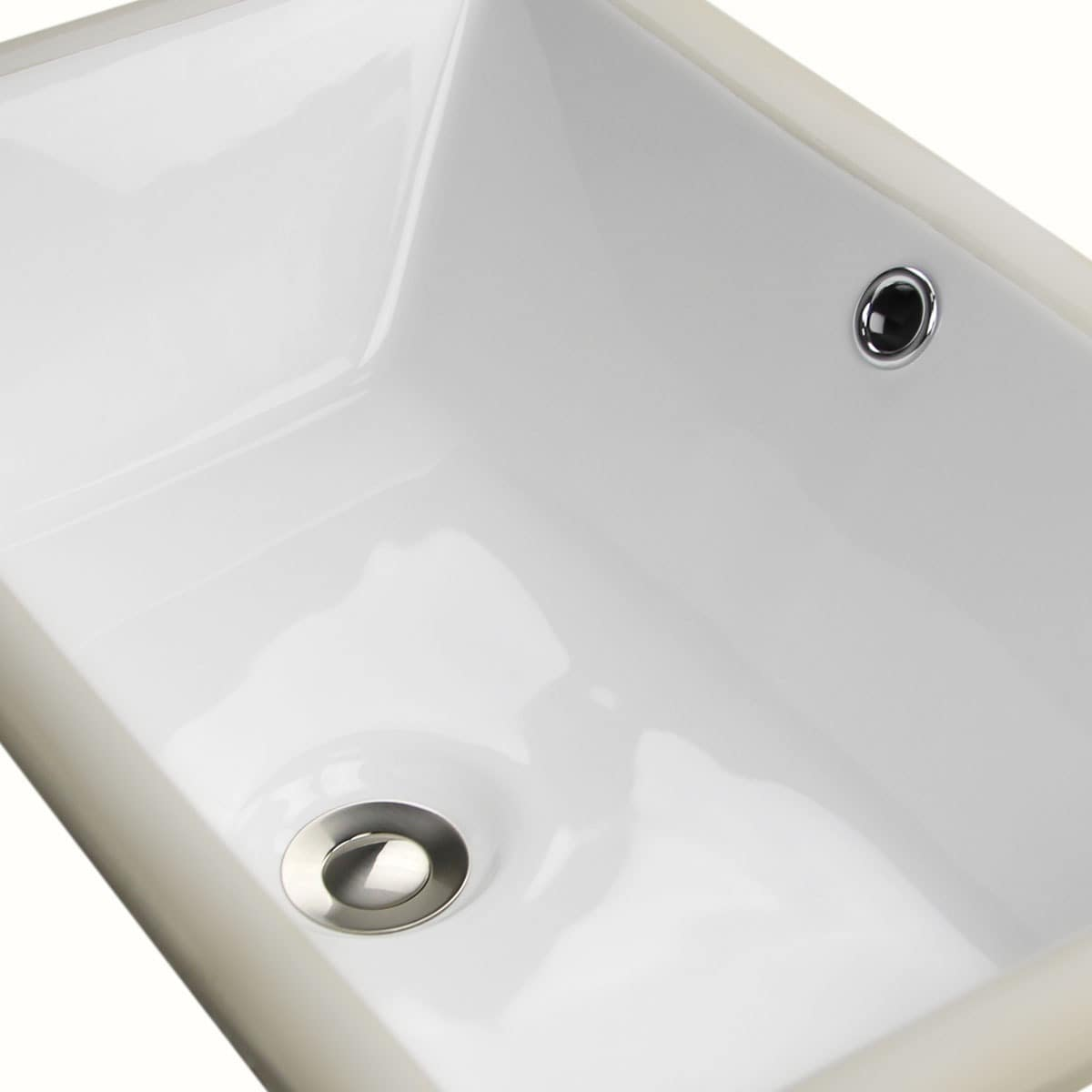 Shop Highpoint Collection White Ceramic 19 Inch X11 Inch Undermount Vanity  Sink   Free Shipping Today   Overstock.com   5301442