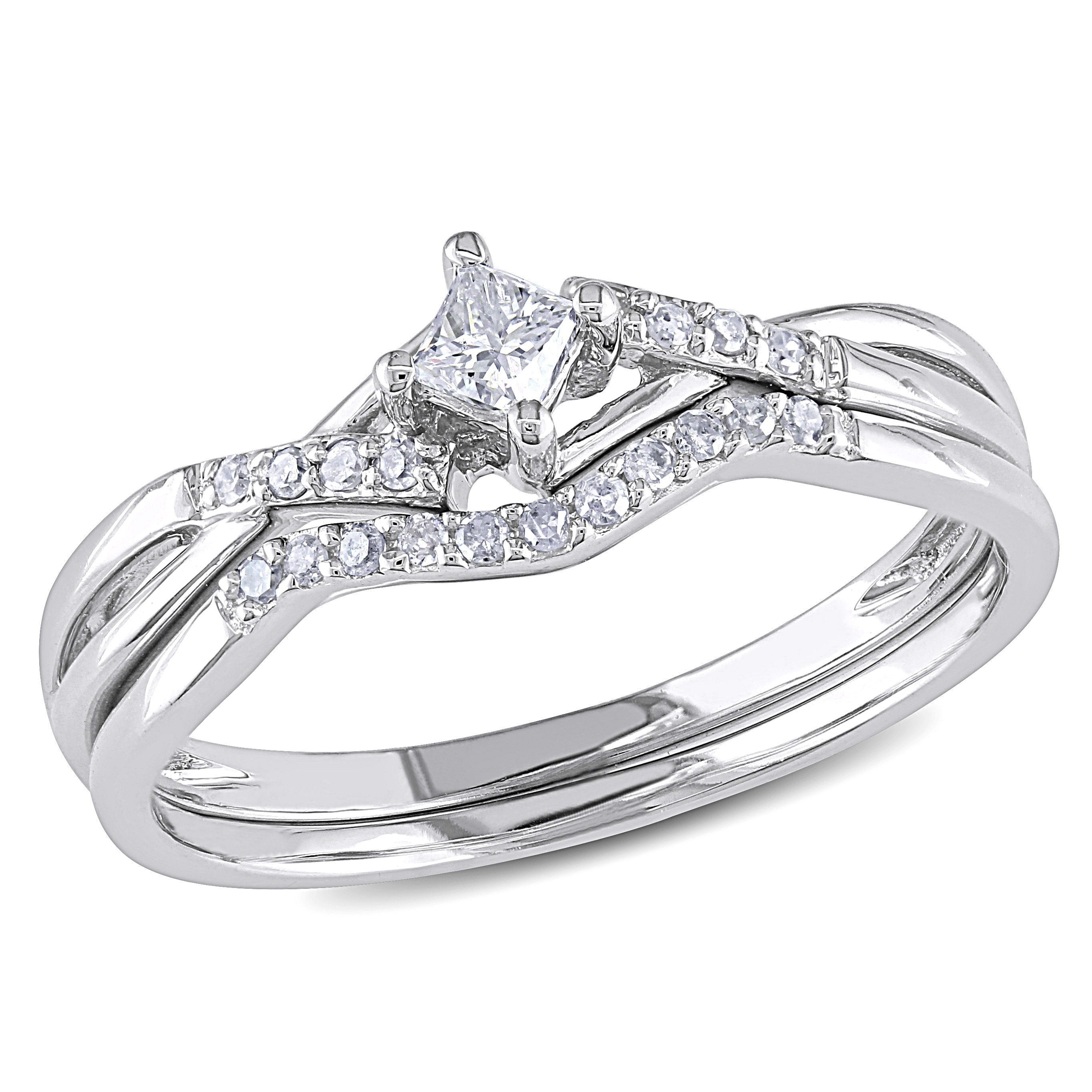 ring carat rings two white gold engagement set shoulder diamond piece
