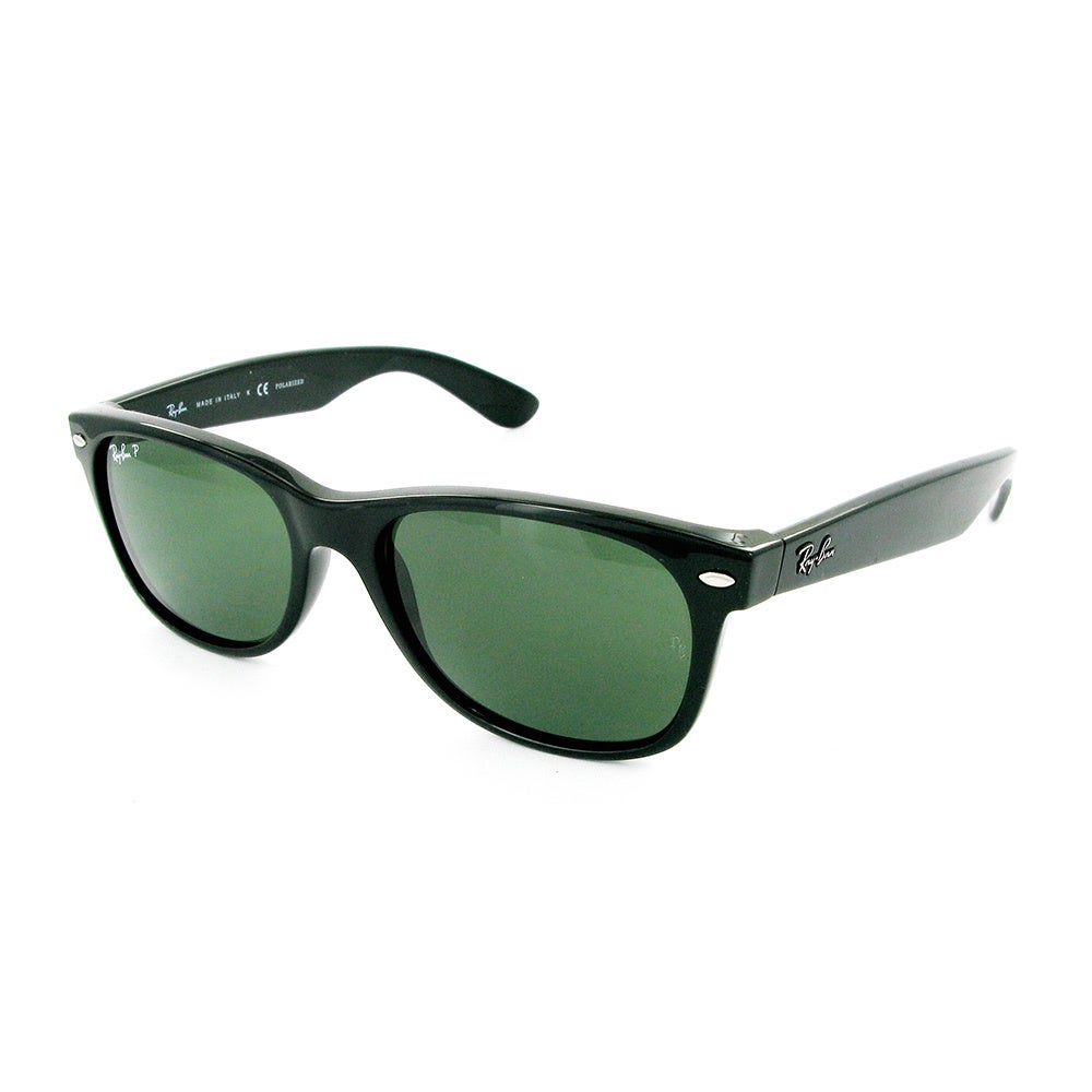 Shop Ray-Ban New Wayfarer RB2132 Polarized Sunglasses - Black - Free  Shipping Today - Overstock.com - 5329325 27ac739b581c