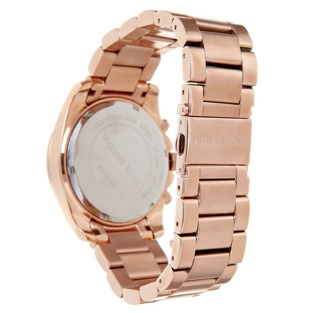 95a40099d722 Shop Michael Kors Women s MK5263  Blair  Rose Gold-Tone Chronograph Watch -  Free Shipping Today - Overstock - 5336896