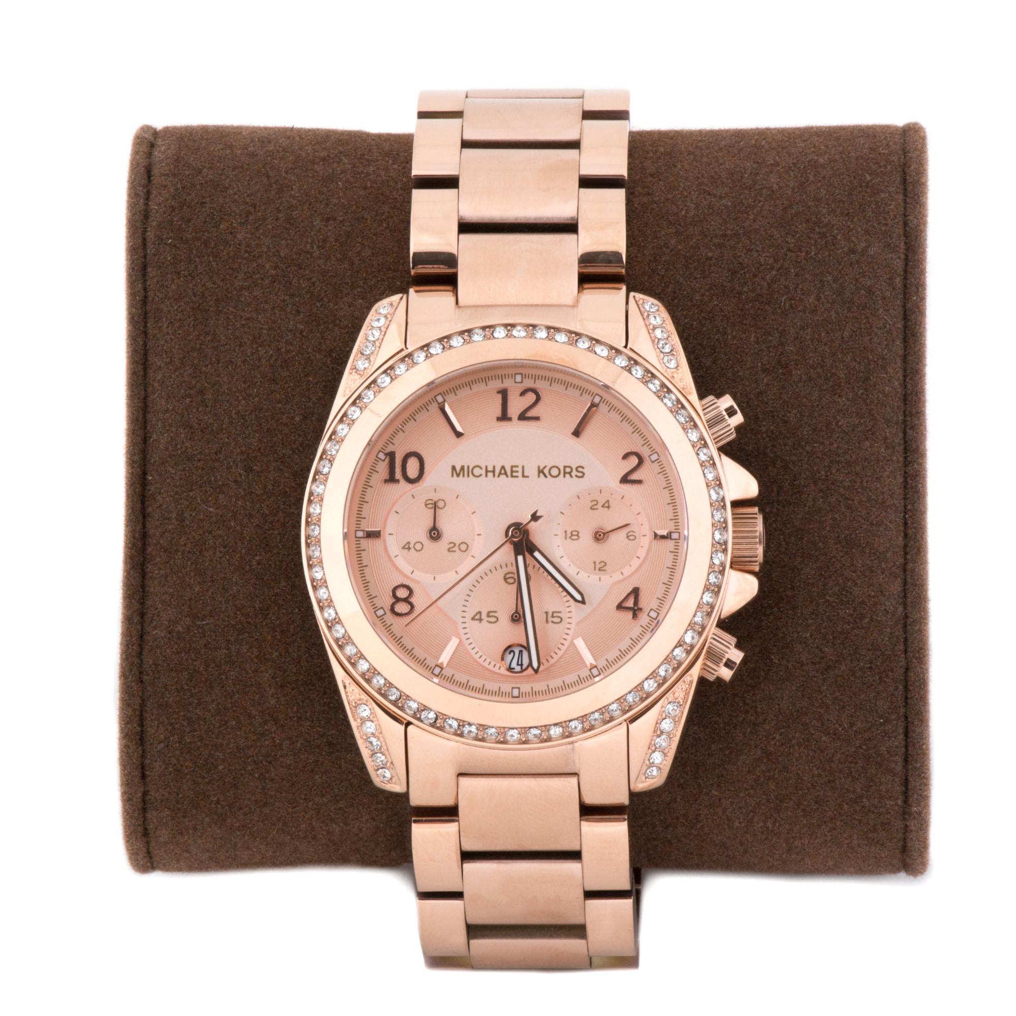 9644d83c8d50 Shop Michael Kors Women s MK5263  Blair  Rose Gold-Tone Chronograph Watch -  Free Shipping Today - Overstock - 5336896