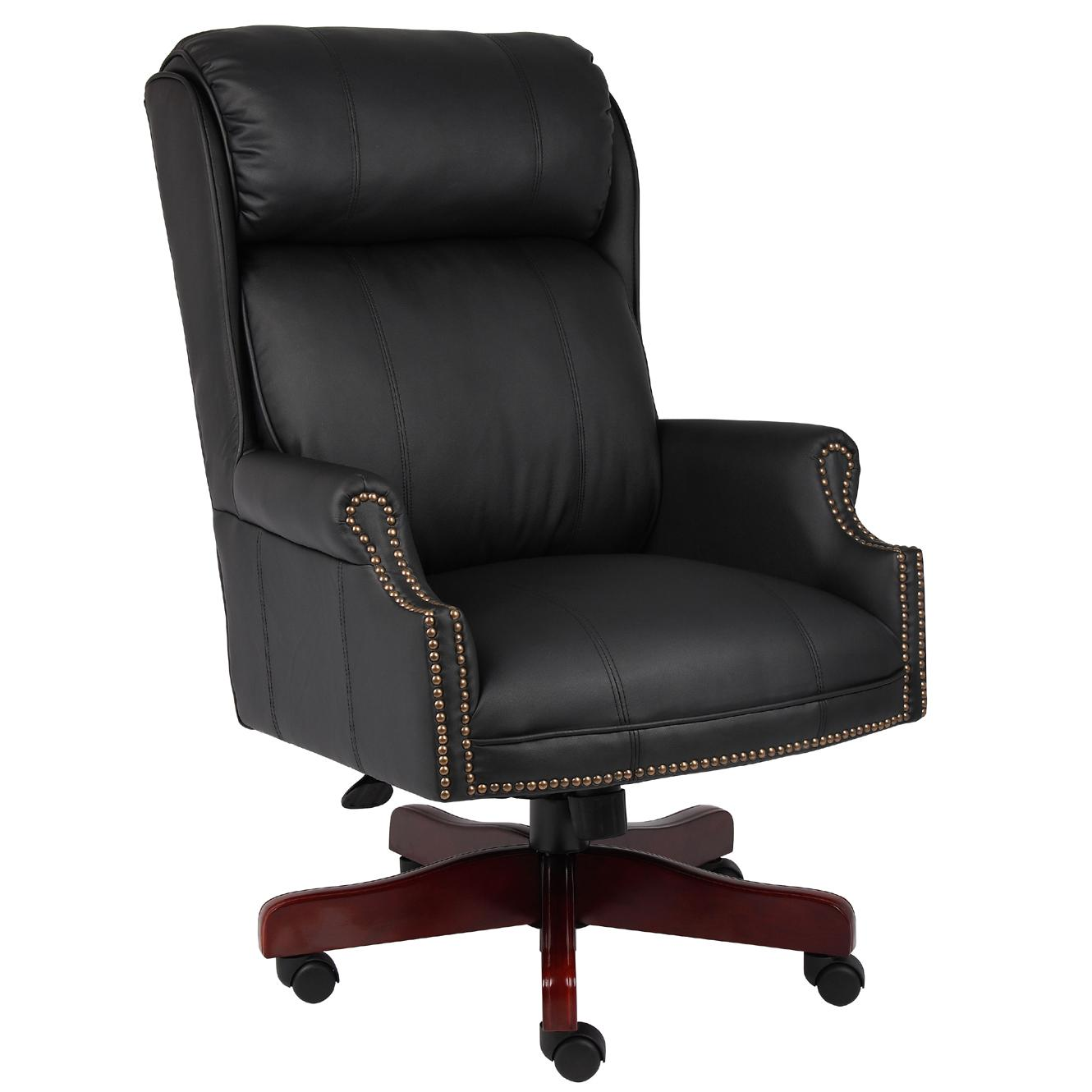 Beau Shop Boss Traditional Black Executive Chair   Free Shipping Today    Overstock.com   5394127