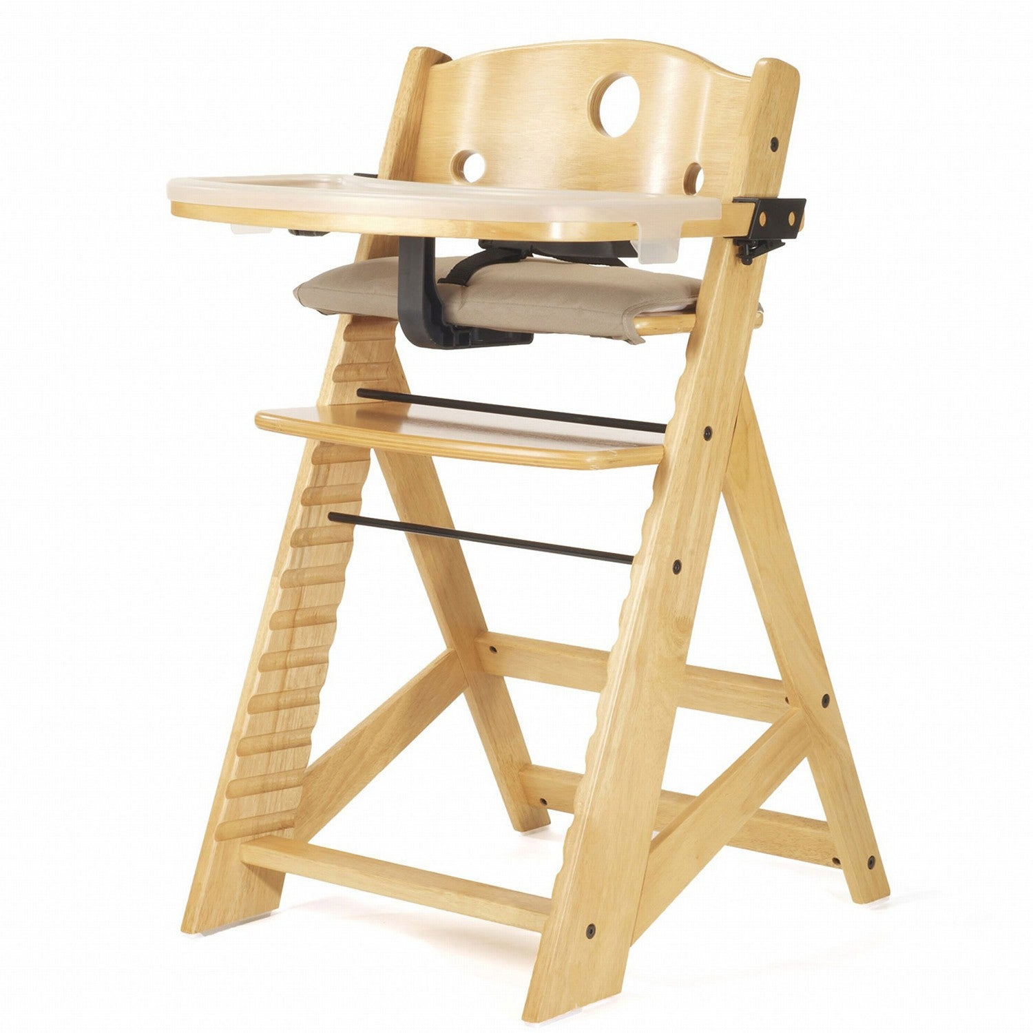 Shop Height Right Natural High Chair With Tray Free Shipping Today