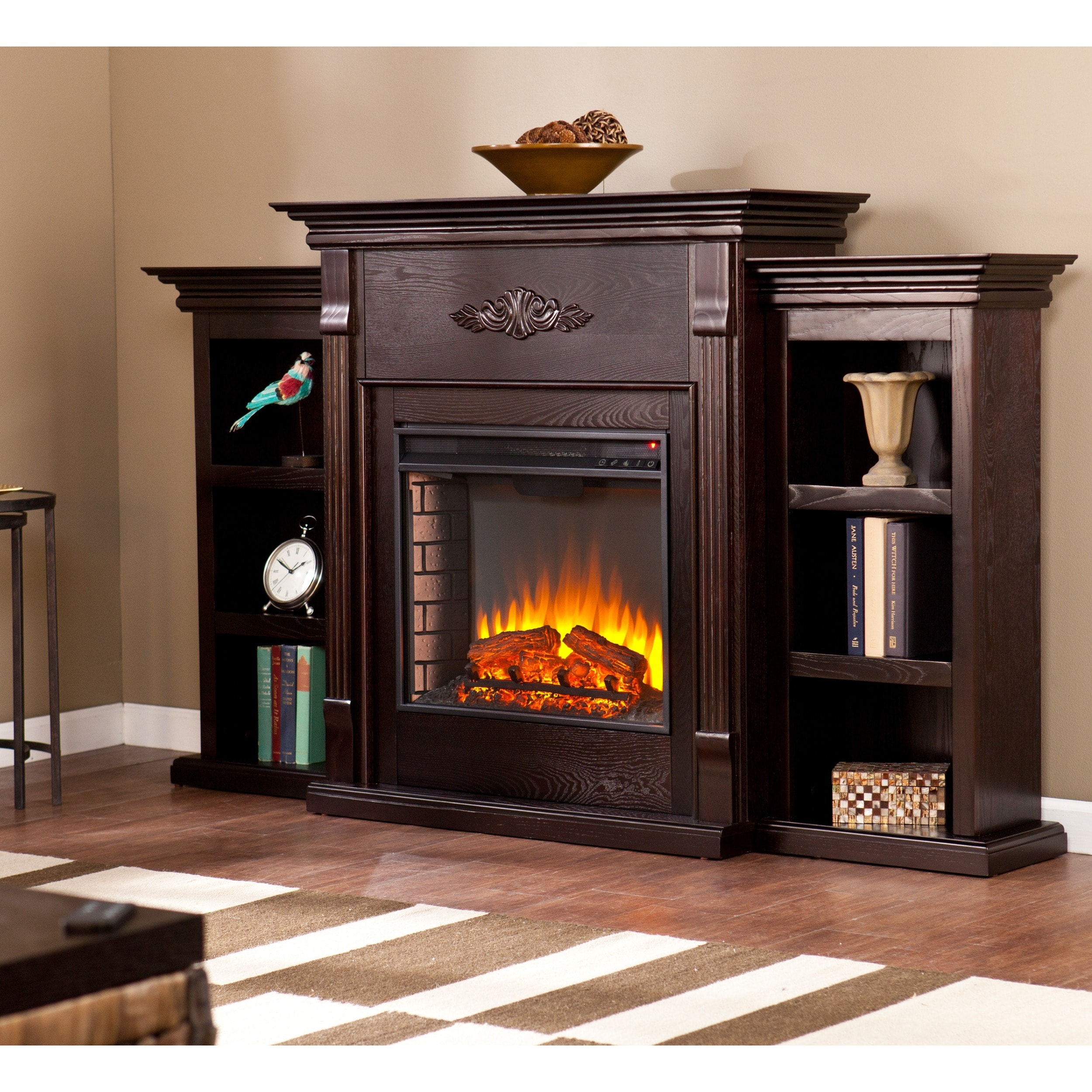 Shop Gracewood Hollow Forbes 70 Inch Espresso Electric Fireplace