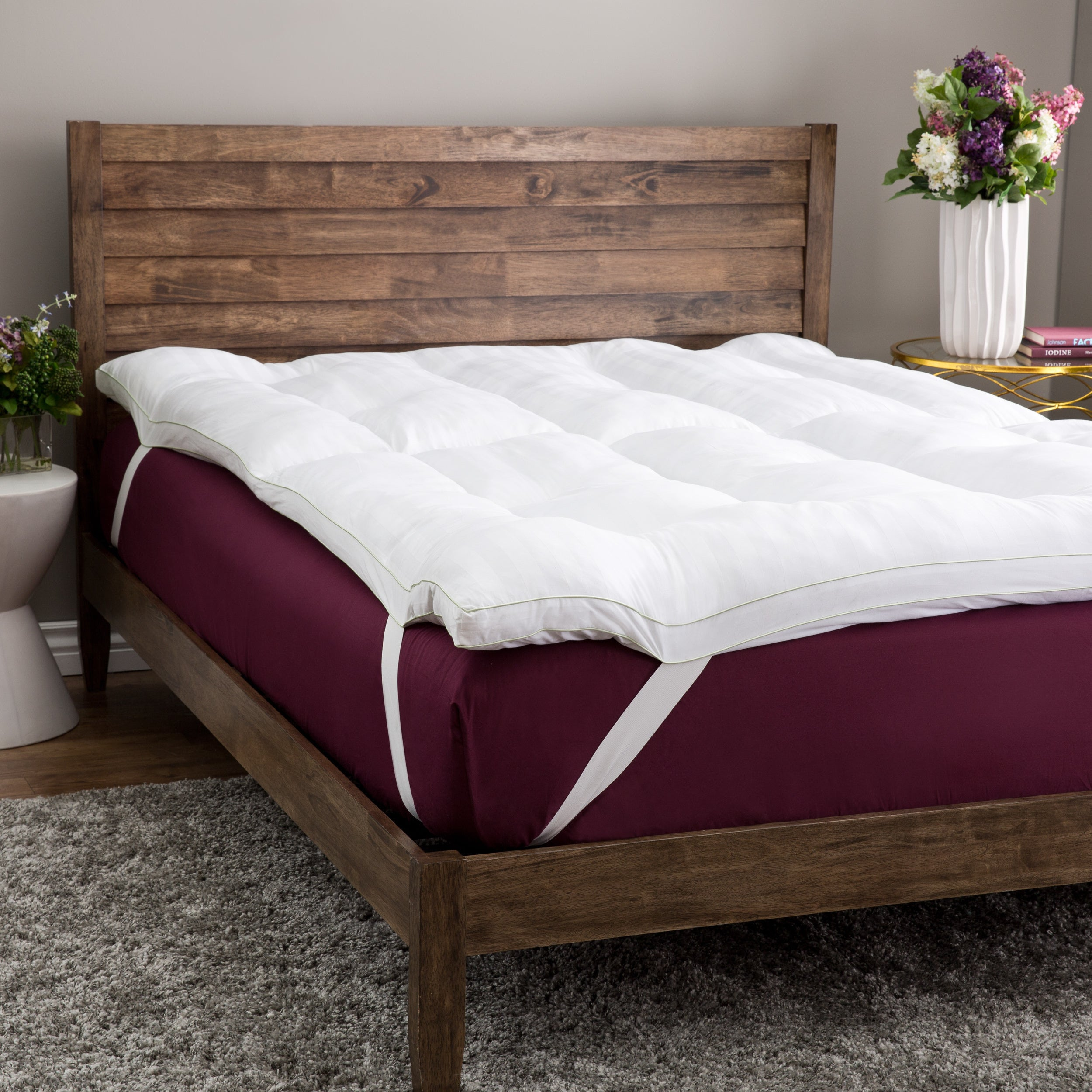 solutions bedding mattress product overstock bath slumber and free fiber shipping memory topper inch today foam gel